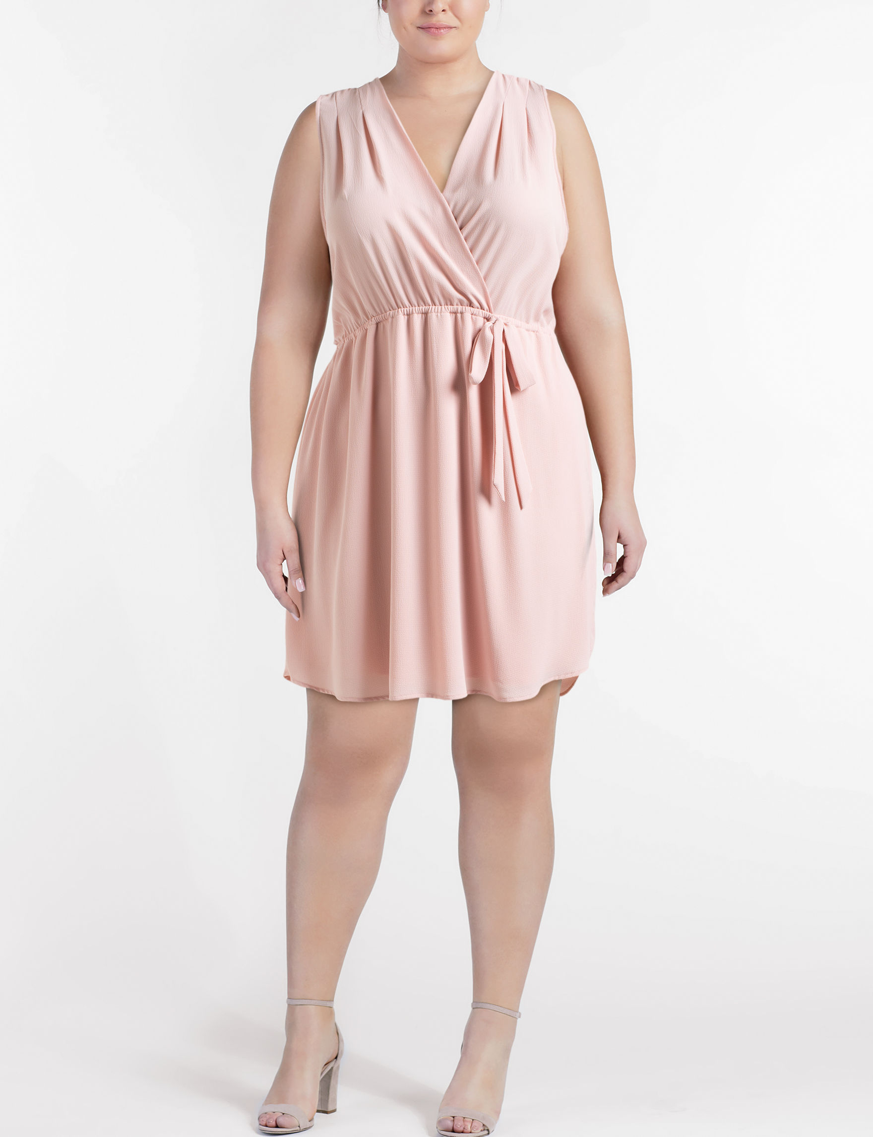Wishful Park Mauve Everyday & Casual Fit & Flare Dresses