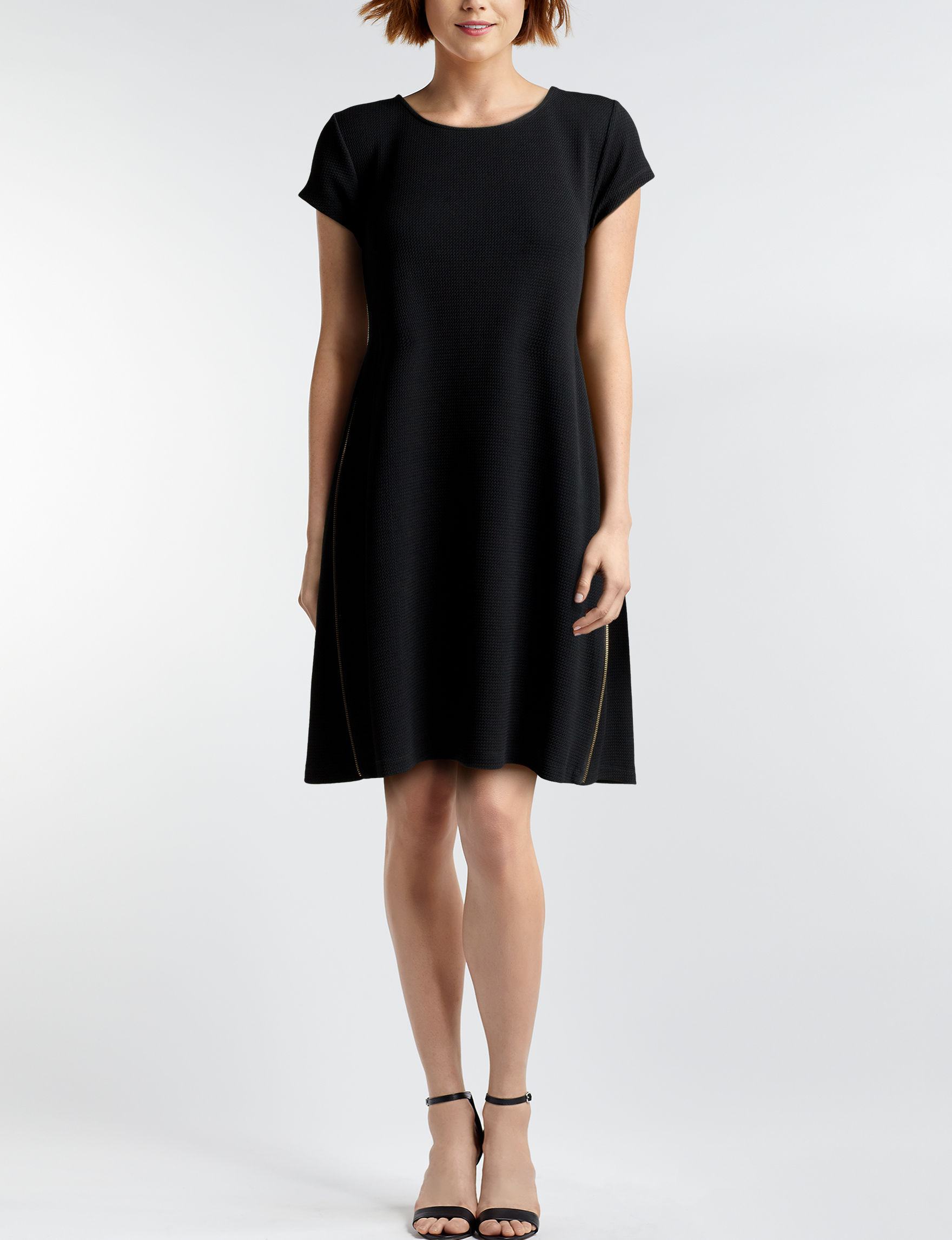Nina Leonard Black Everyday & Casual Shift Dresses