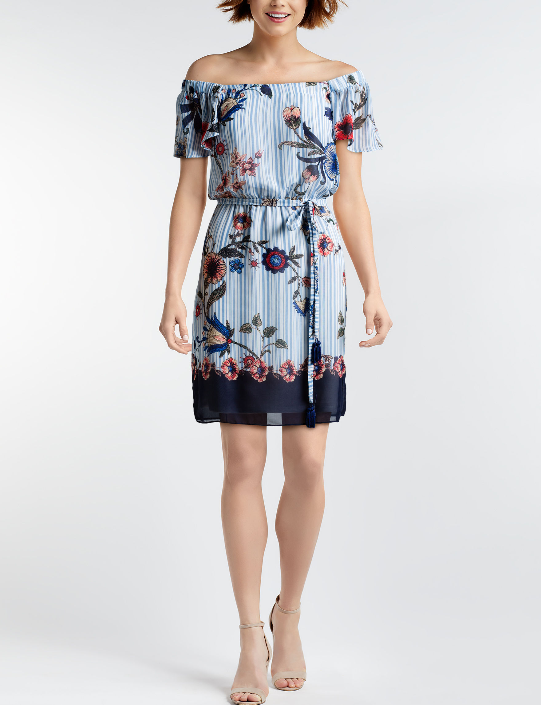 Robbie Bee Blue Everyday & Casual Shift Dresses