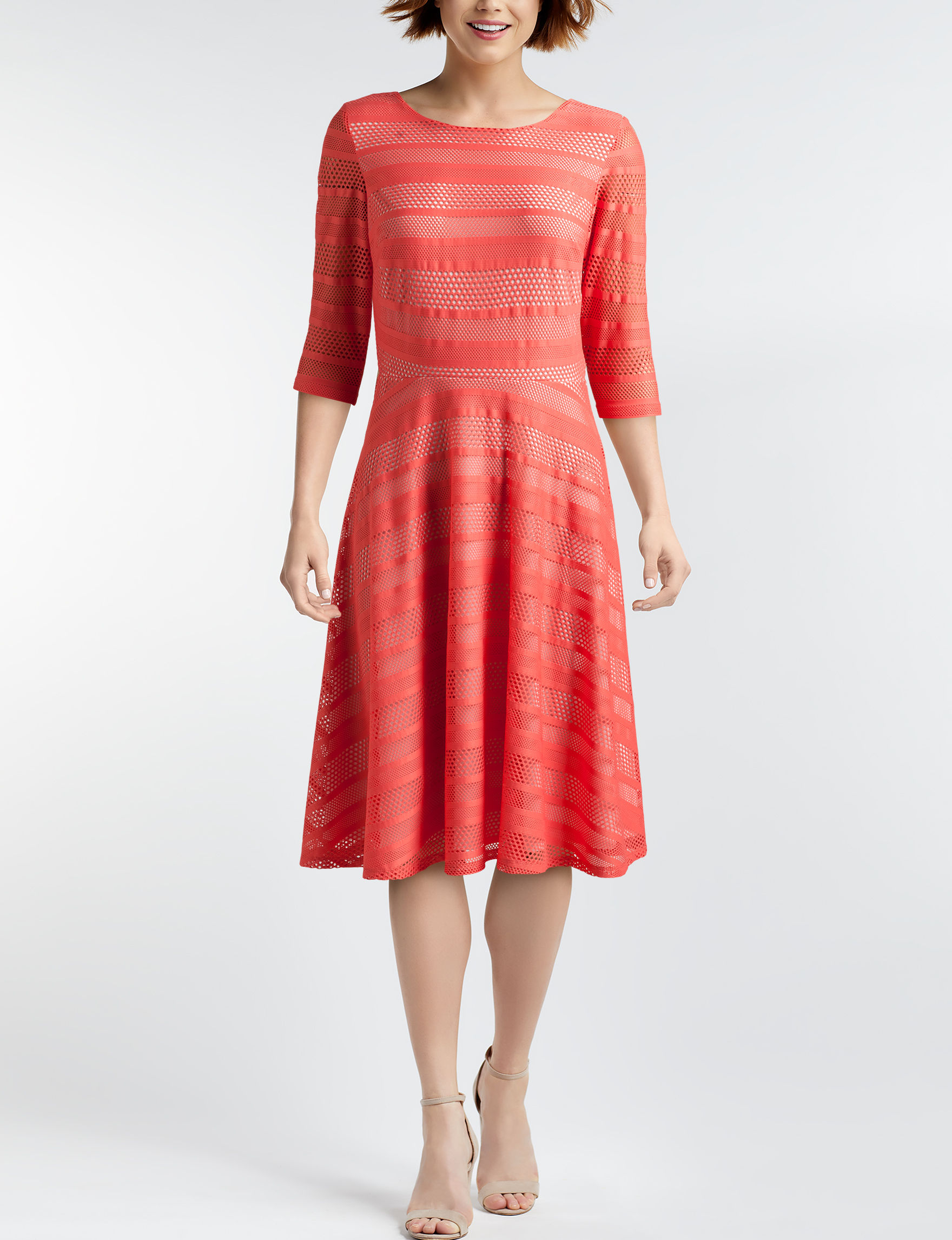 Sangria Sorbet Everyday & Casual Fit & Flare Dresses