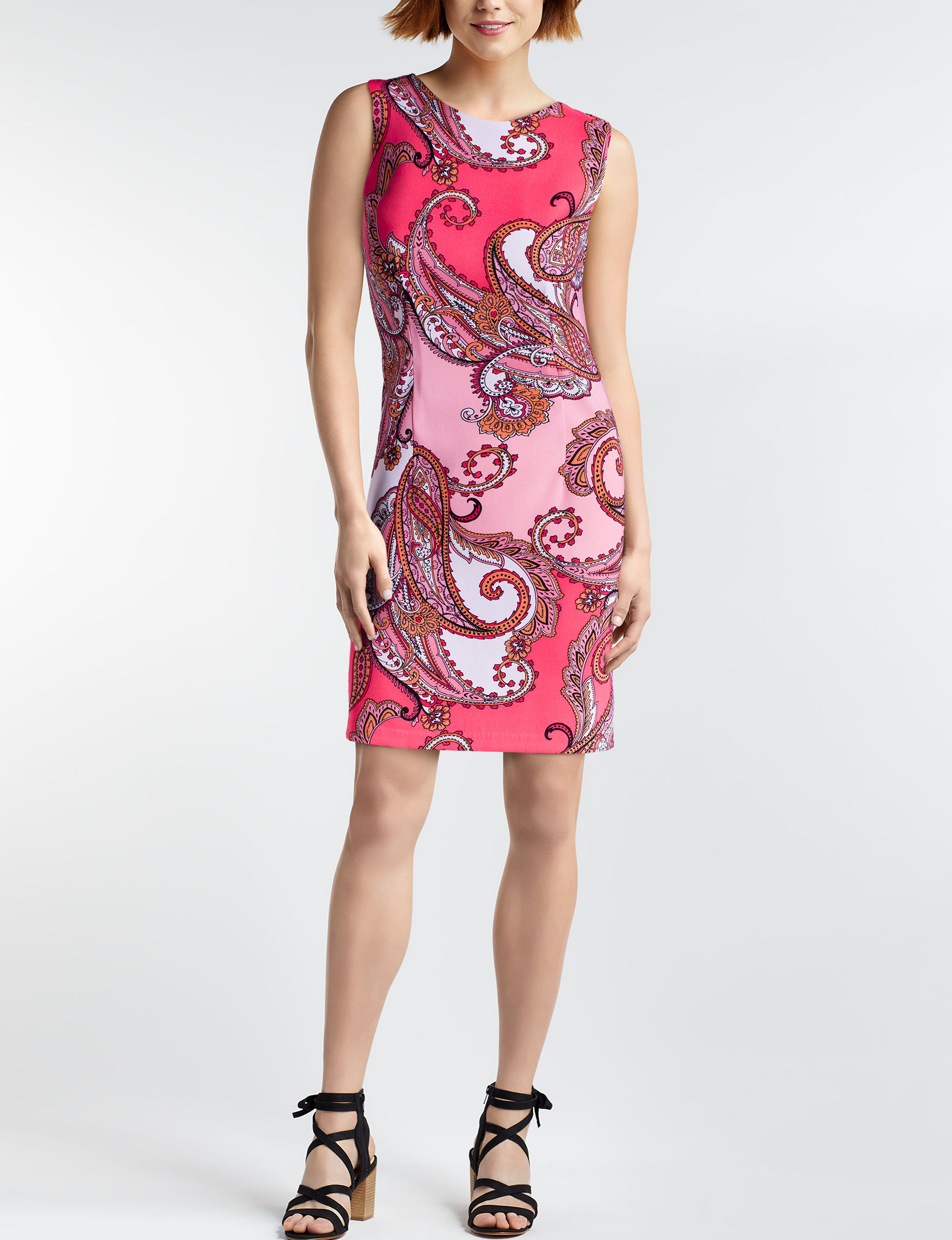 A. Byer Pink Paisley Everyday & Casual Sheath Dresses