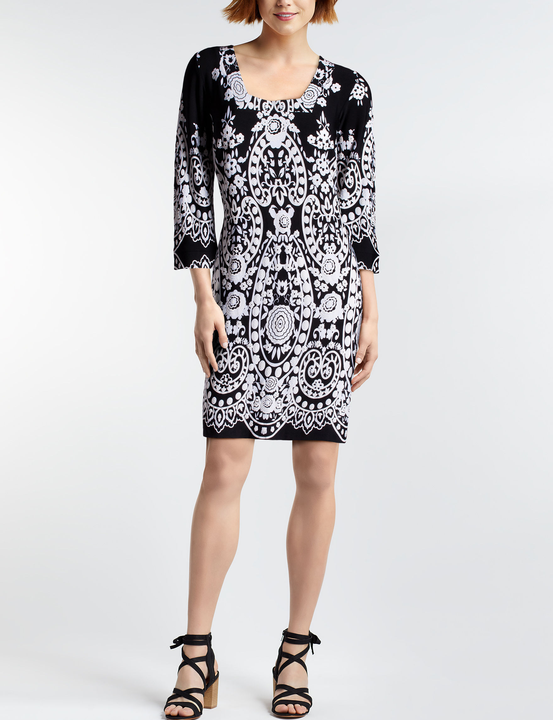 MSK Black /  White Everyday & Casual Shift Dresses