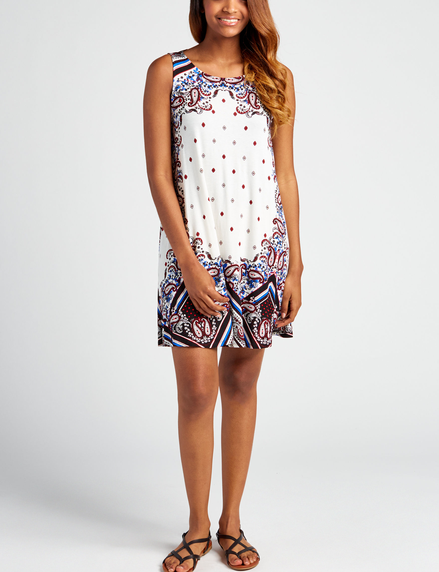 Heart Soul White Everyday & Casual Shift Dresses