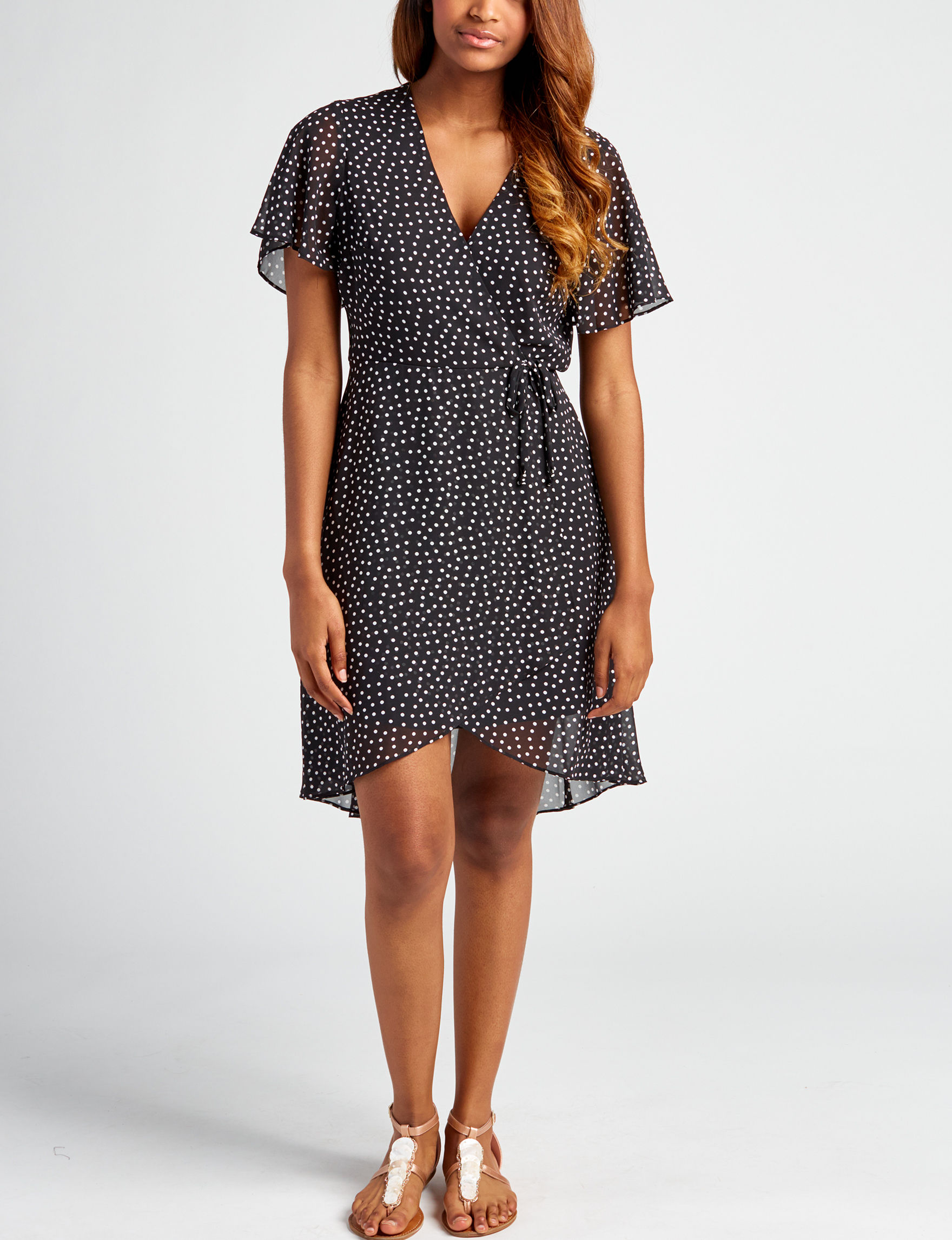 Sequin Hearts Black Cocktail & Party Everyday & Casual Fit & Flare Dresses