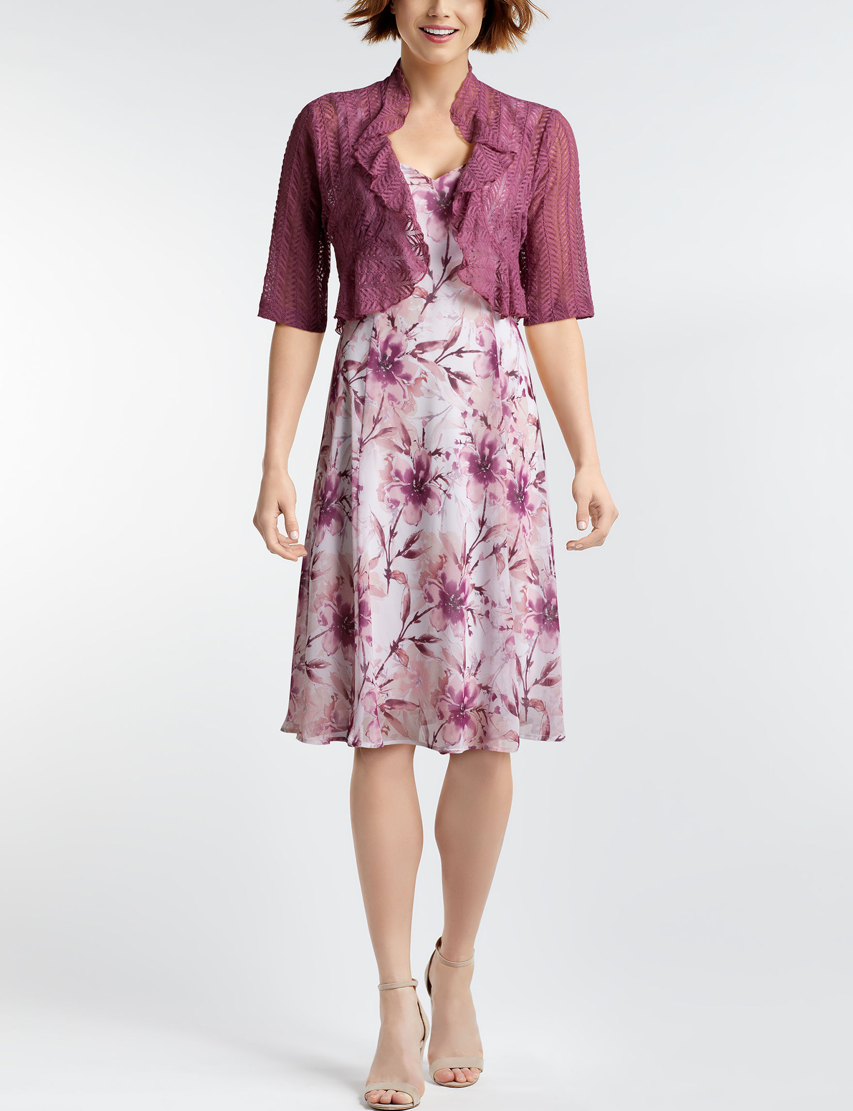 Connected Mauve Everyday & Casual Jacket Dresses