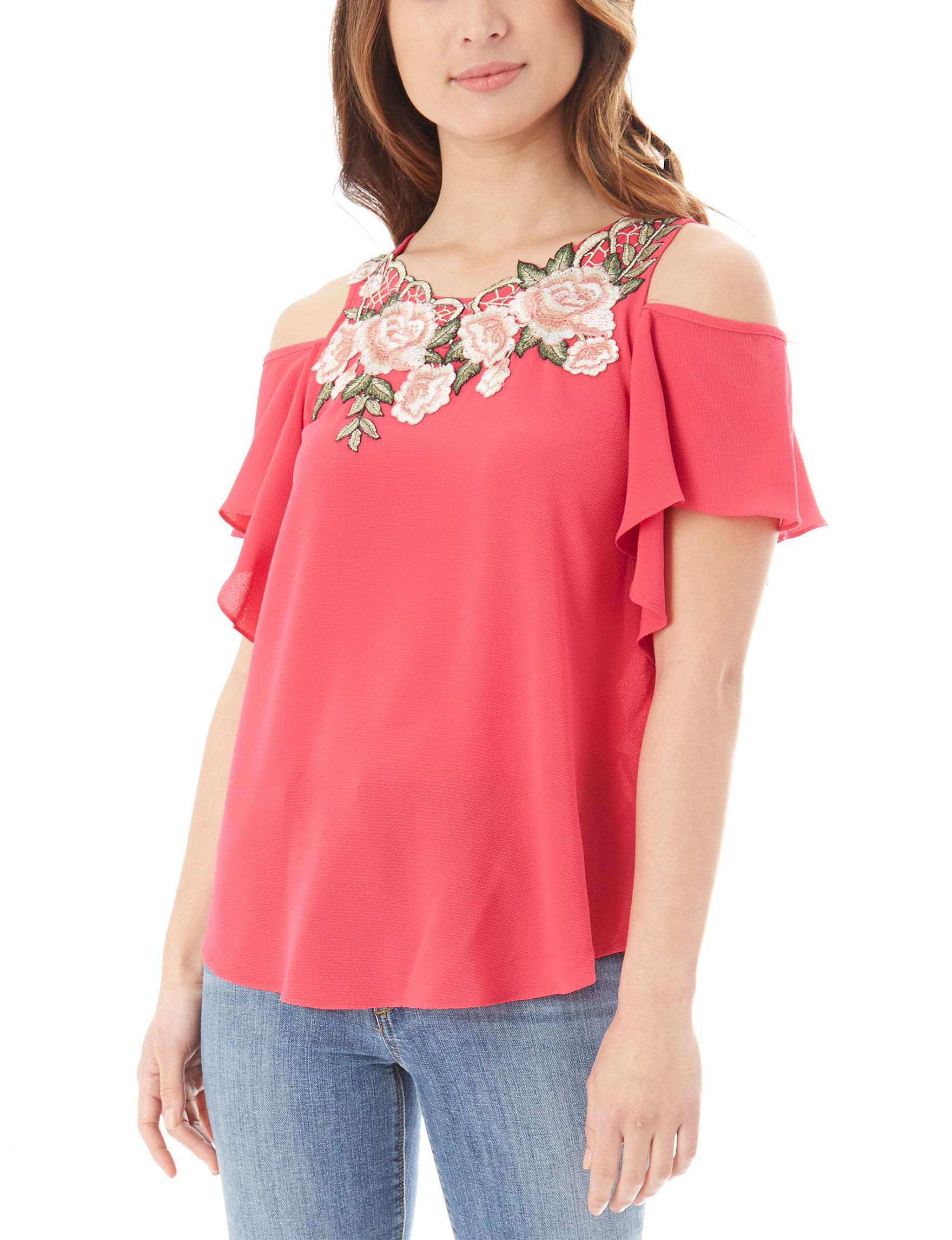 A. Byer Hot Pink Shirts & Blouses