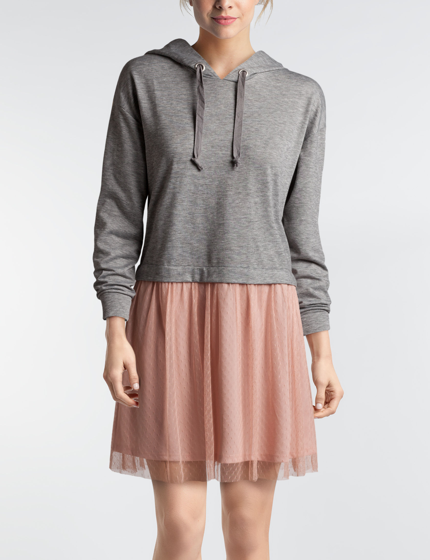 BeBop Grey Everyday & Casual Fit & Flare Dresses