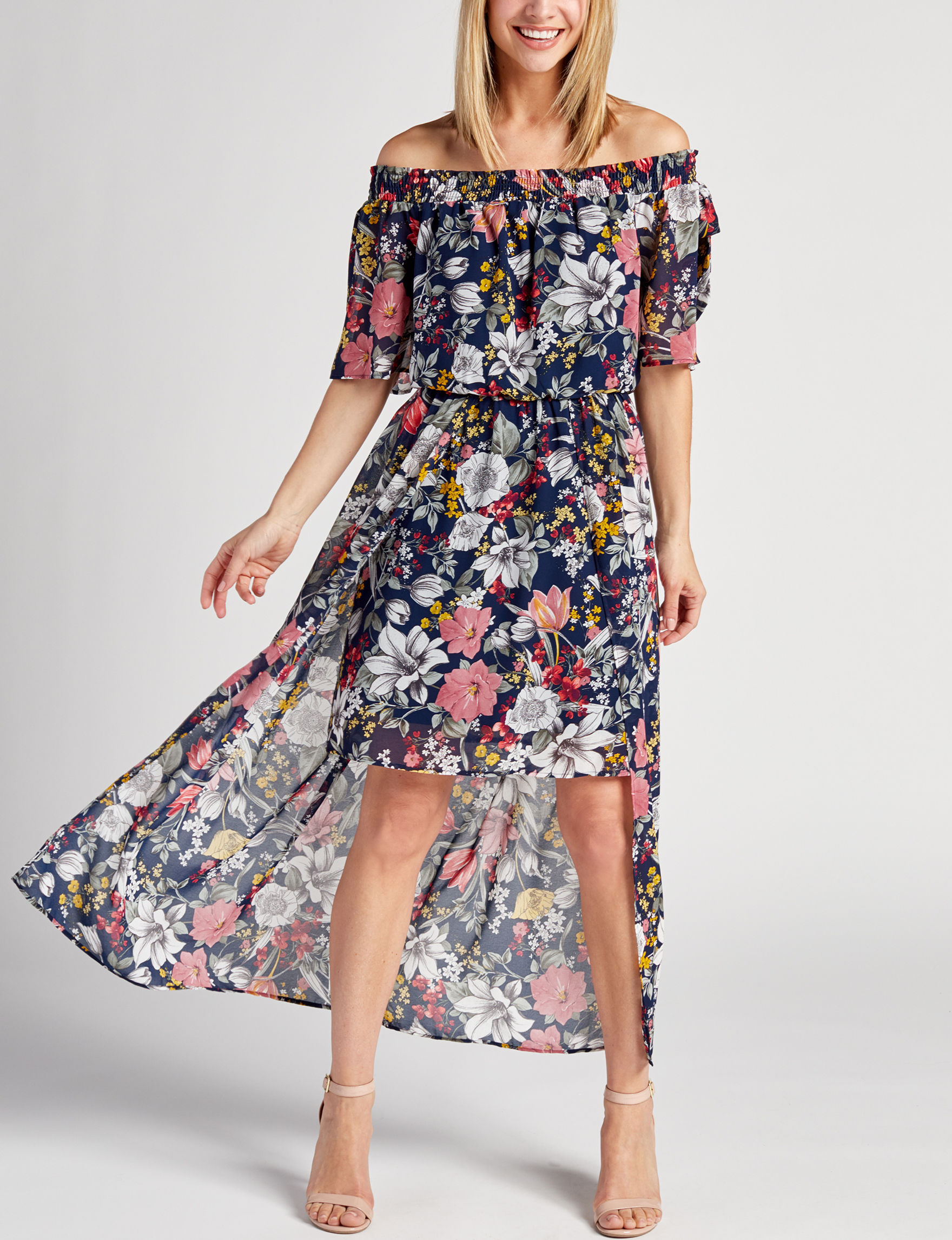 Luxology Navy Floral Everyday & Casual