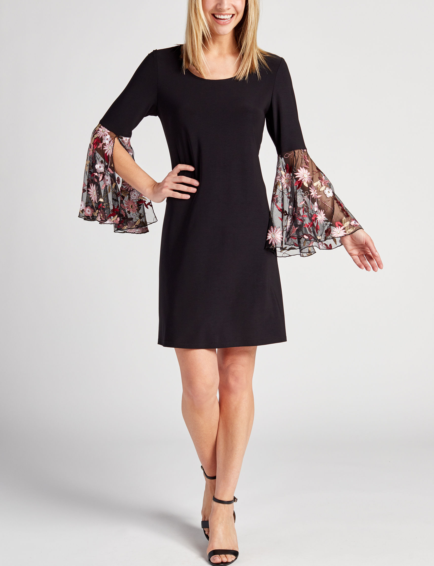 MSK Black Everyday & Casual Shift Dresses