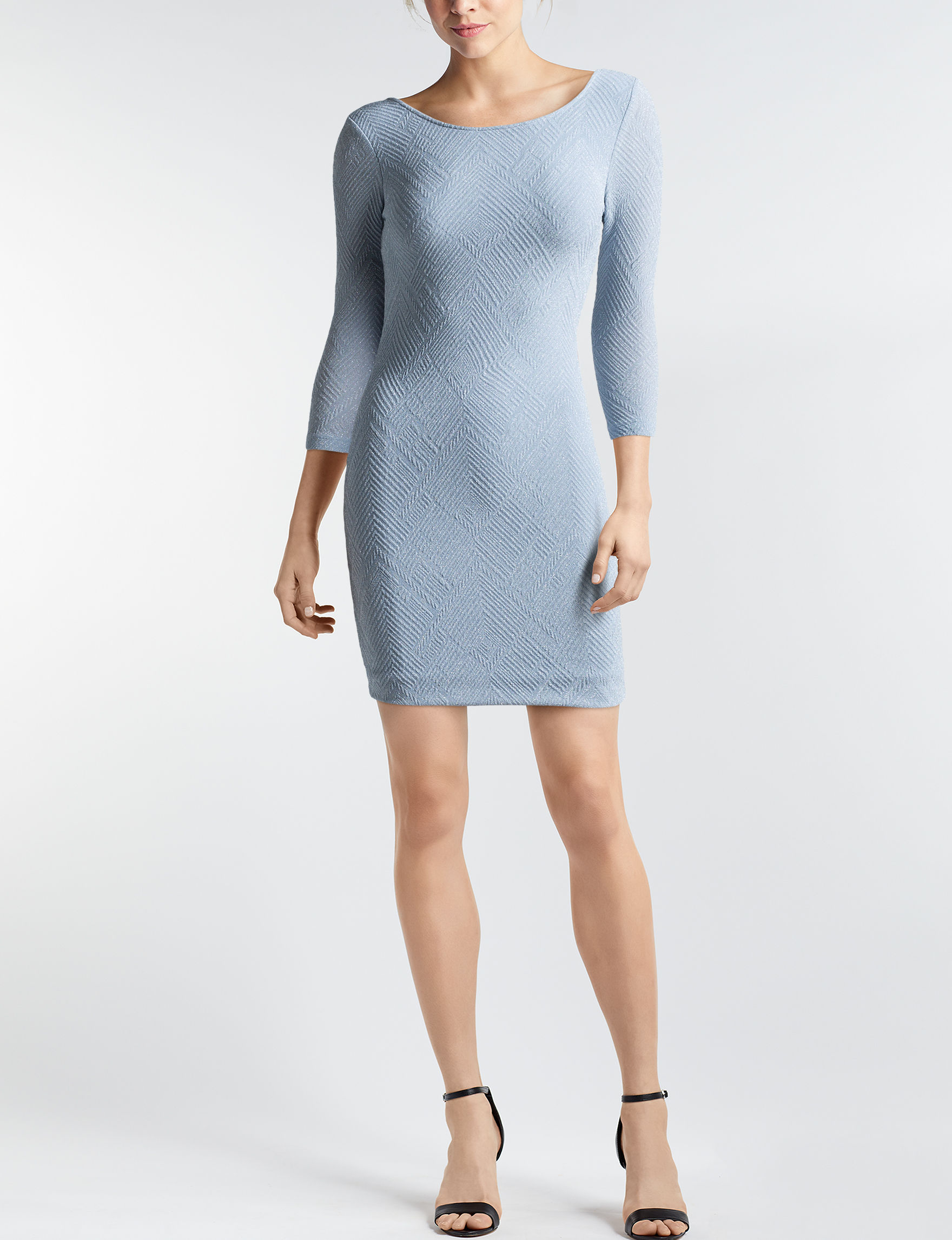 Trixxi Light Blue Cocktail & Party Everyday & Casual Sheath Dresses