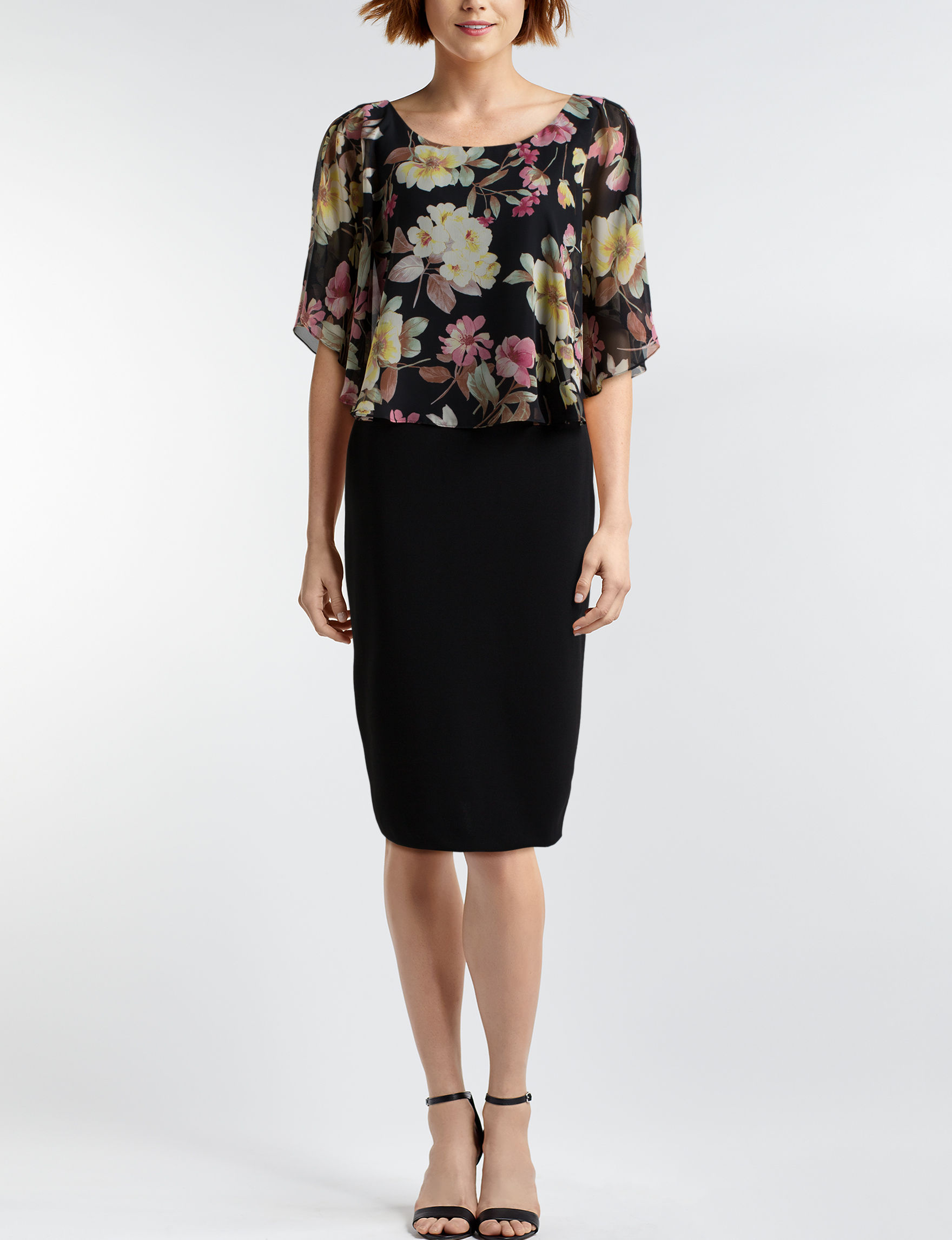 Connected Black / Rose Everyday & Casual Jacket Dresses