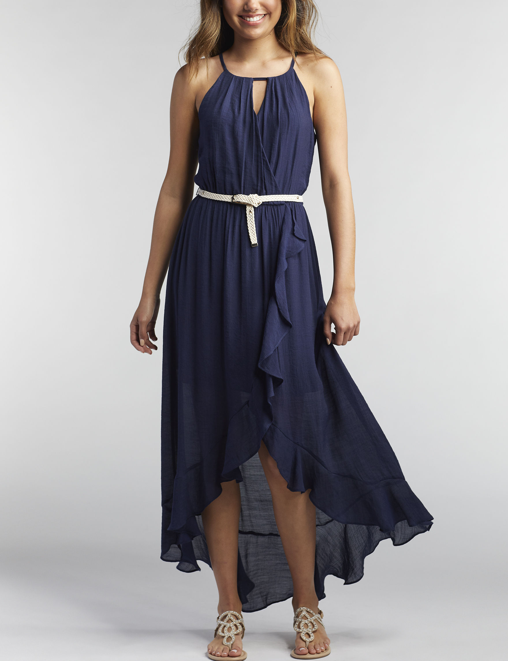 A. Byer Navy Everyday & Casual Sundresses