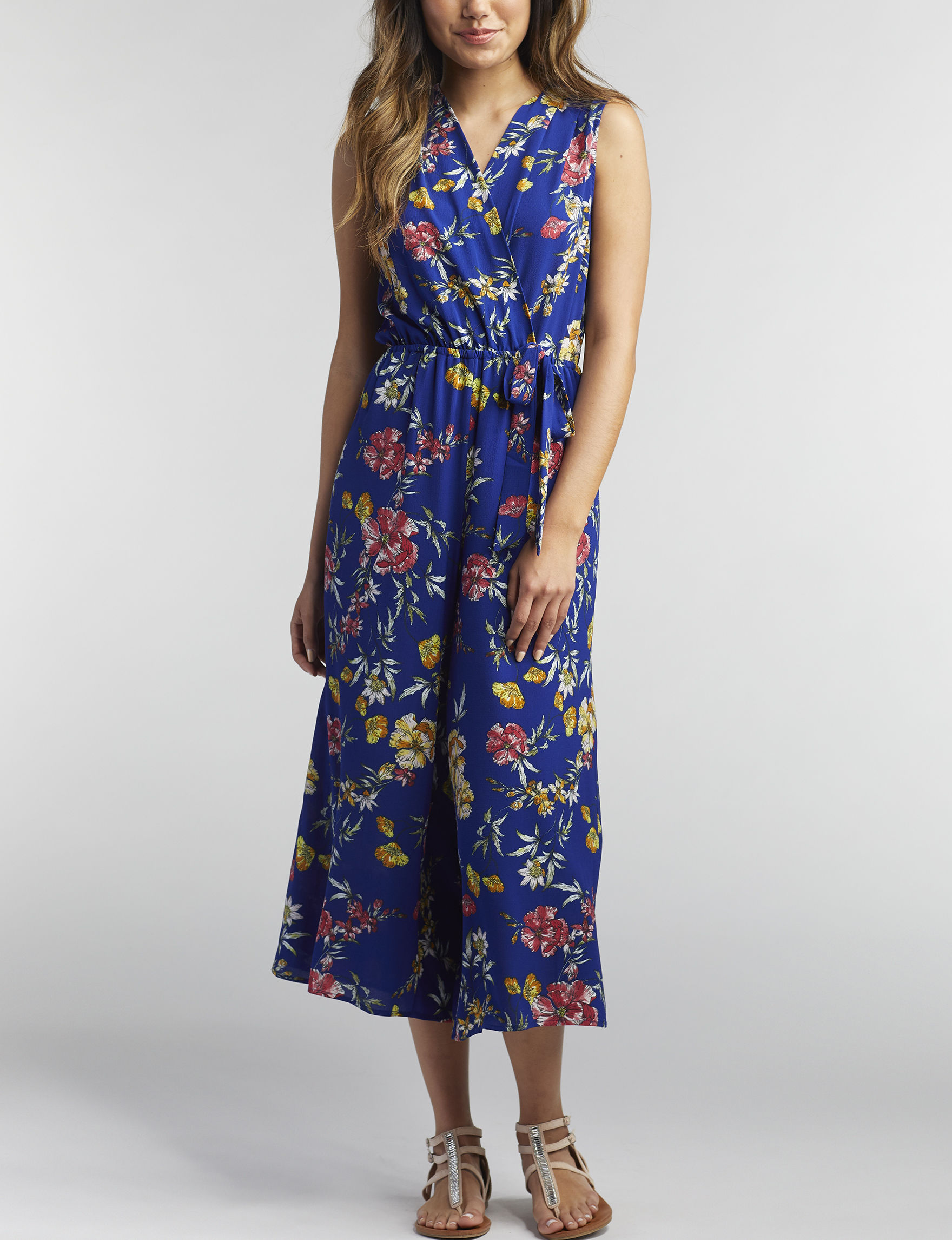 Wishful Park Navy Floral Cocktail & Party Everyday & Casual