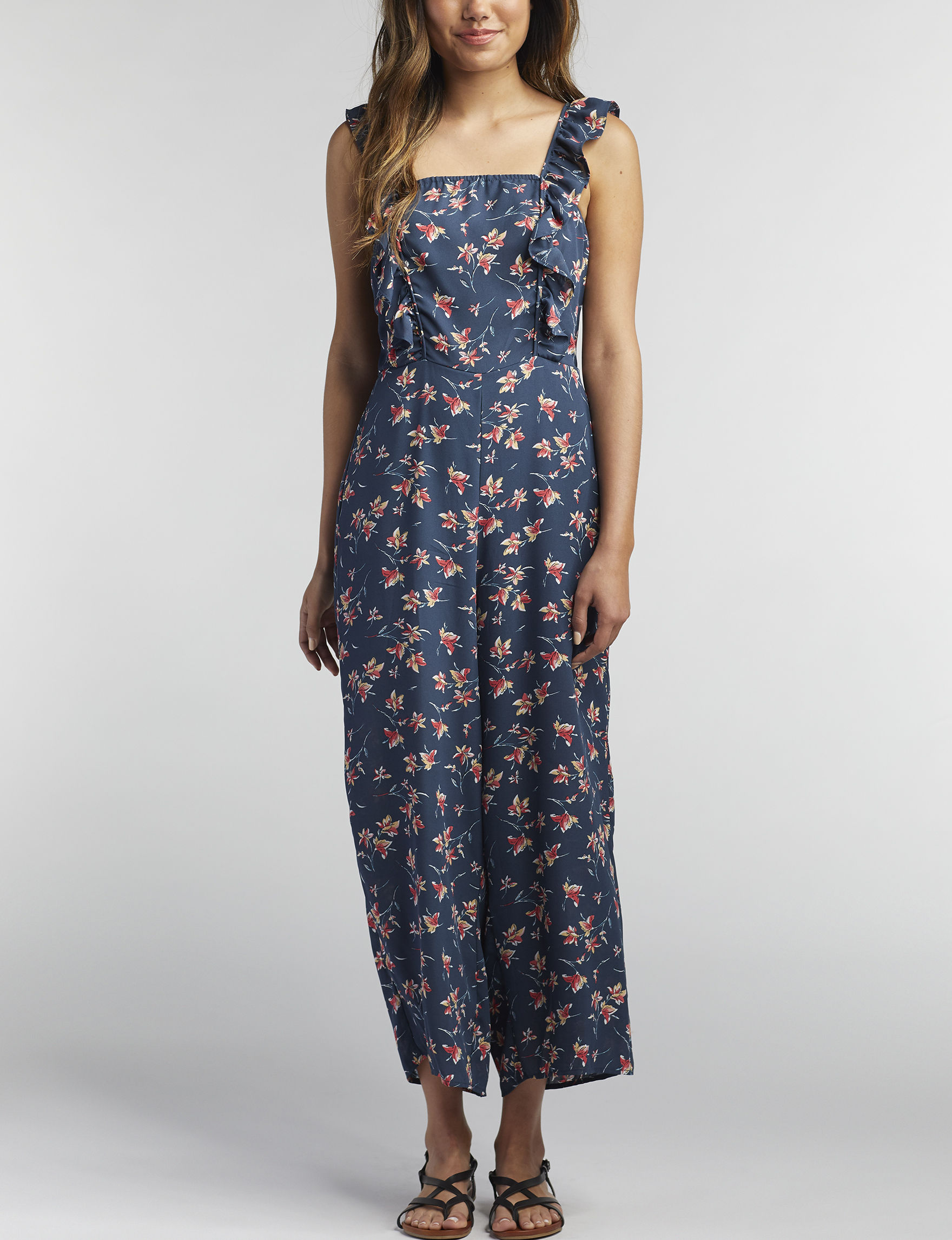 Wishful Park Navy Floral Evening & Formal Everyday & Casual