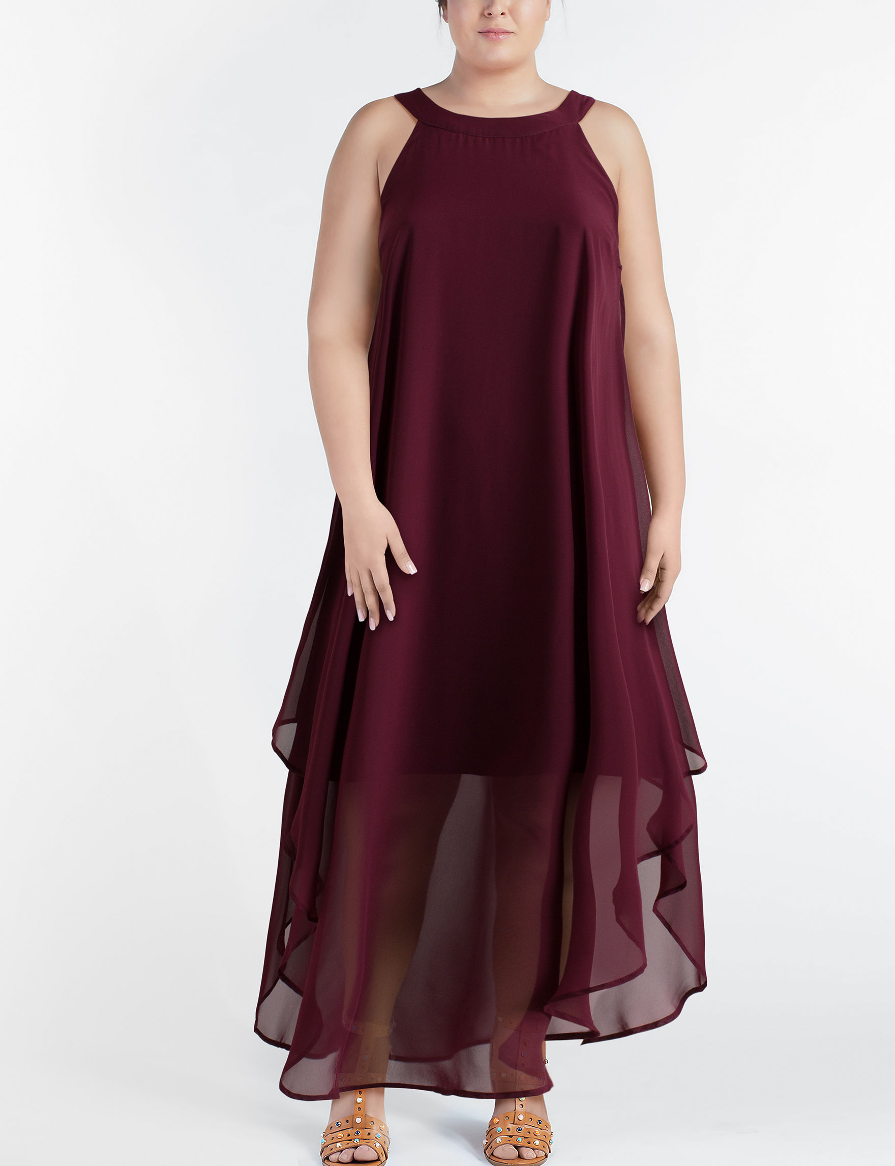 Love Squared Maroon Cocktail & Party Everyday & Casual Sheath Dresses