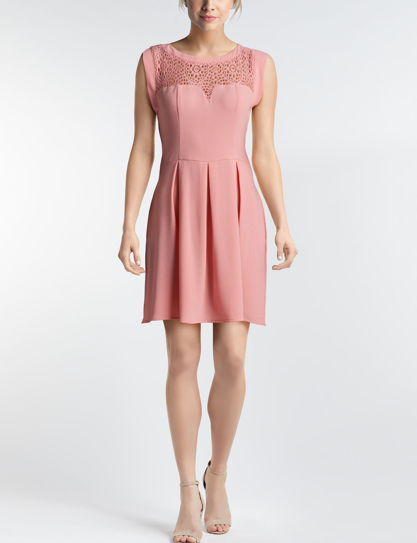 Speechless Blush Cocktail & Party Everyday & Casual Fit & Flare Dresses