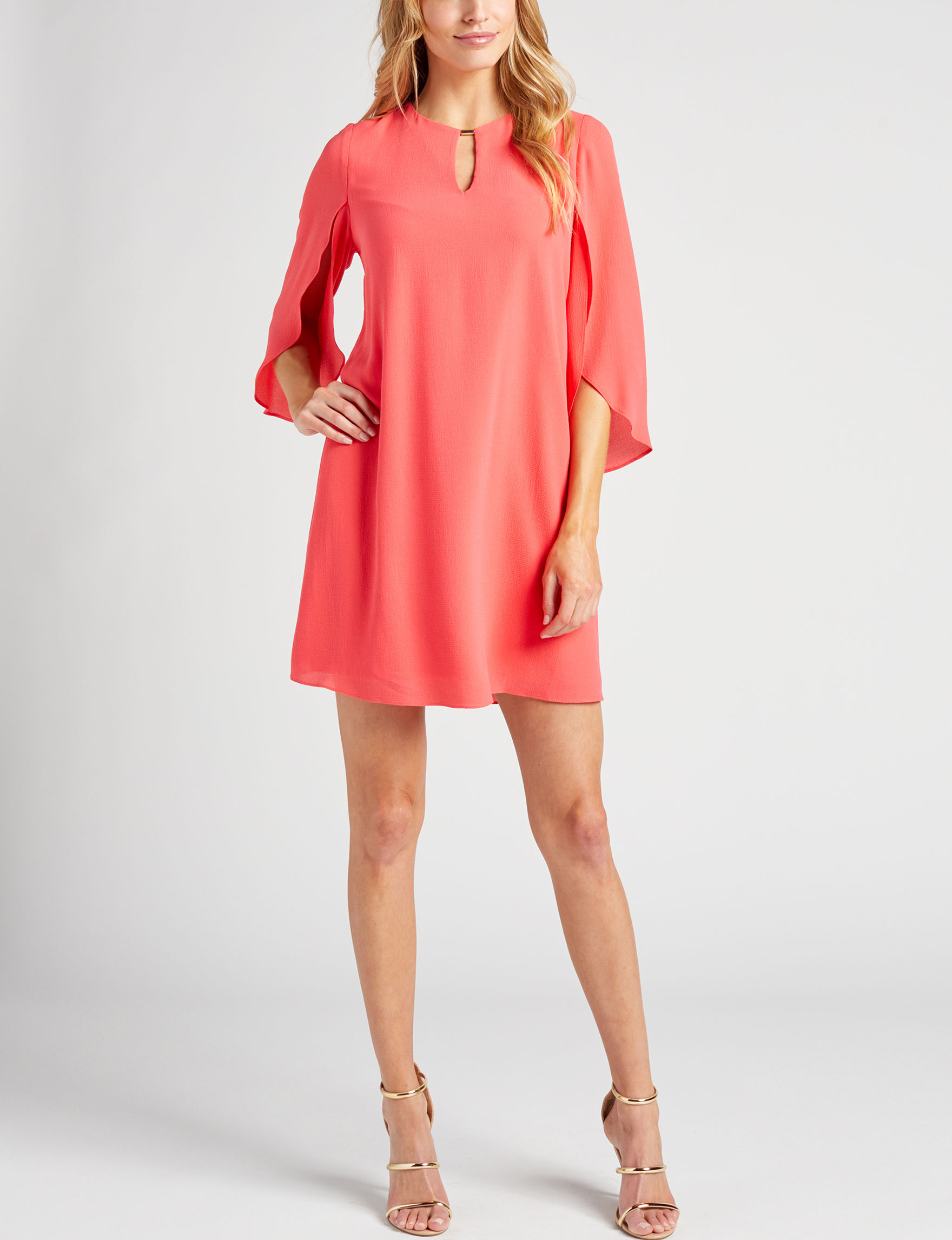 Connected Coral Everyday & Casual Shift Dresses
