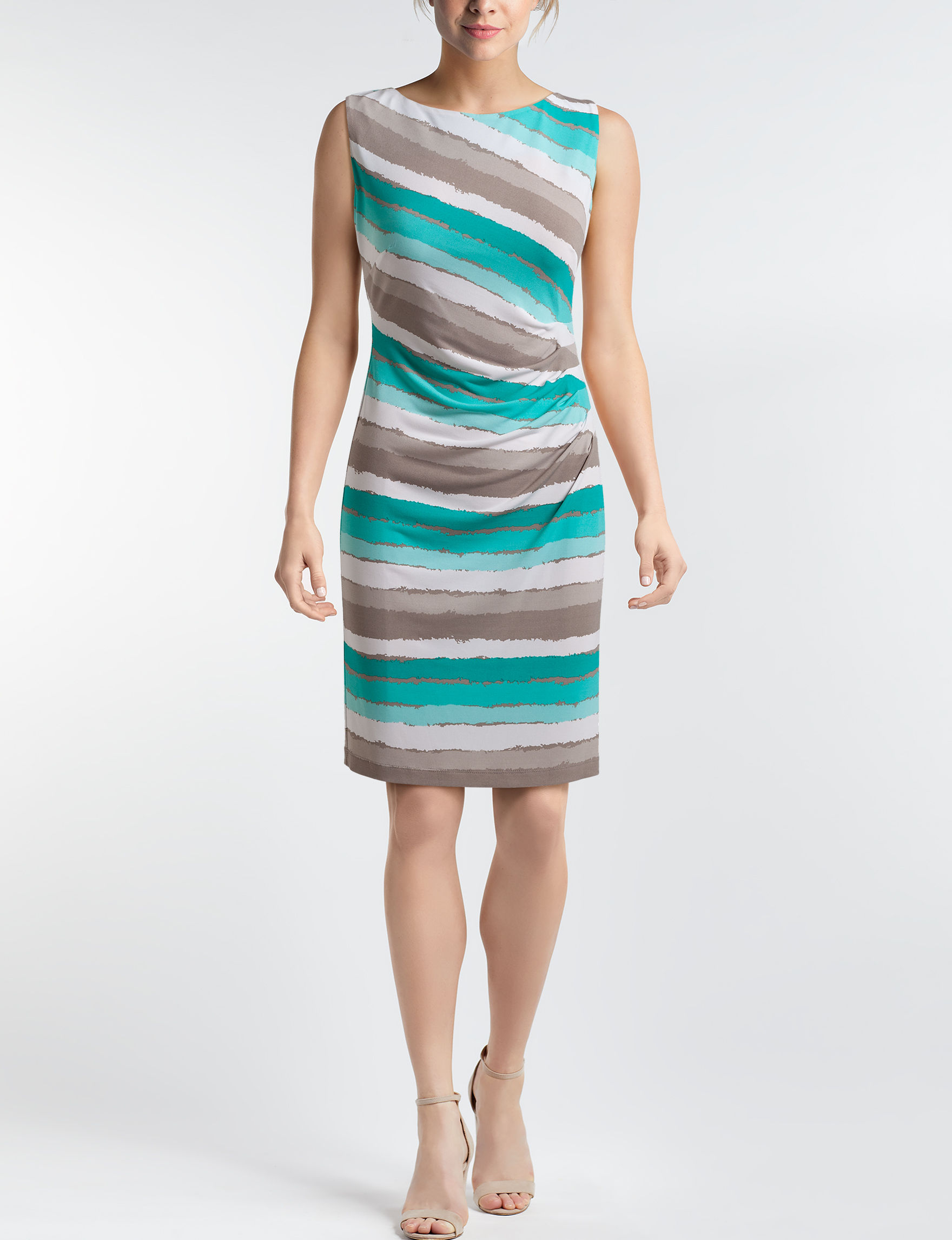 Connected Turquoise Everyday & Casual Sheath Dresses