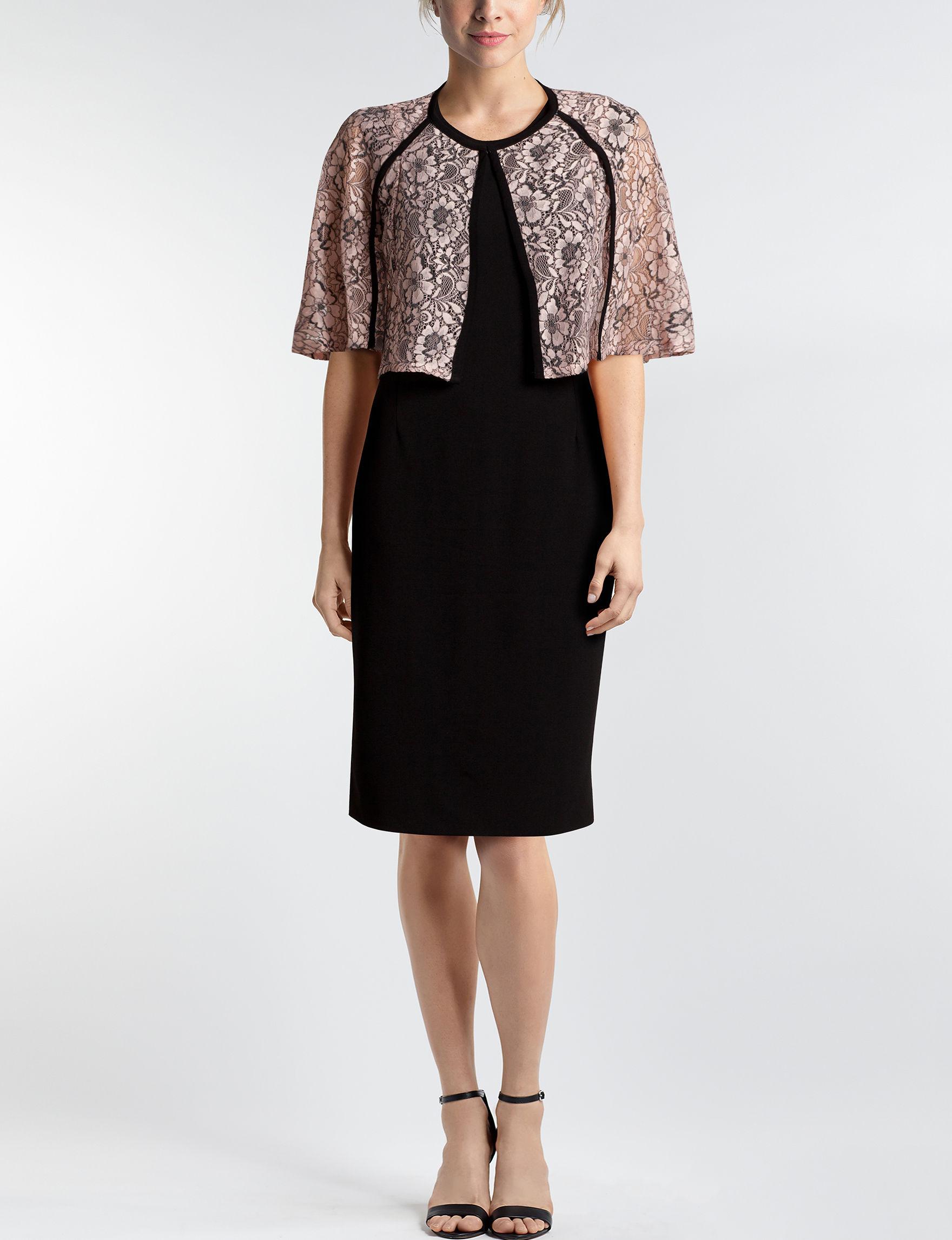 JM Studio Black Everyday & Casual Jacket Dresses Sheath Dresses