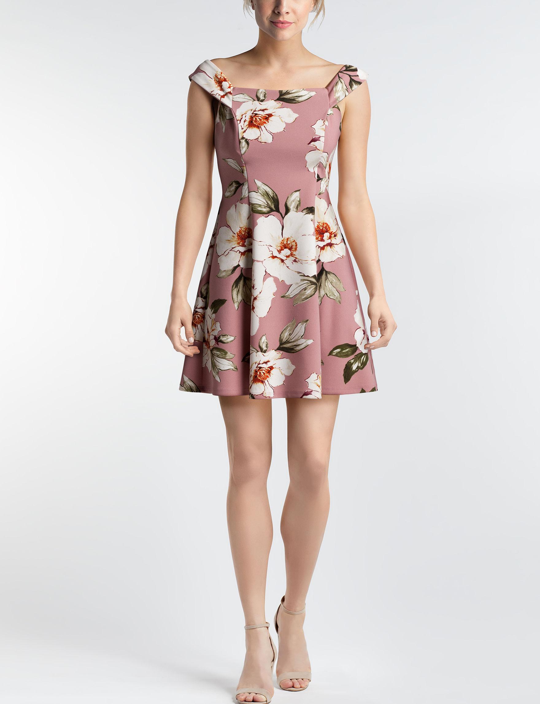 Speechless Mauve Cocktail & Party Fit & Flare Dresses