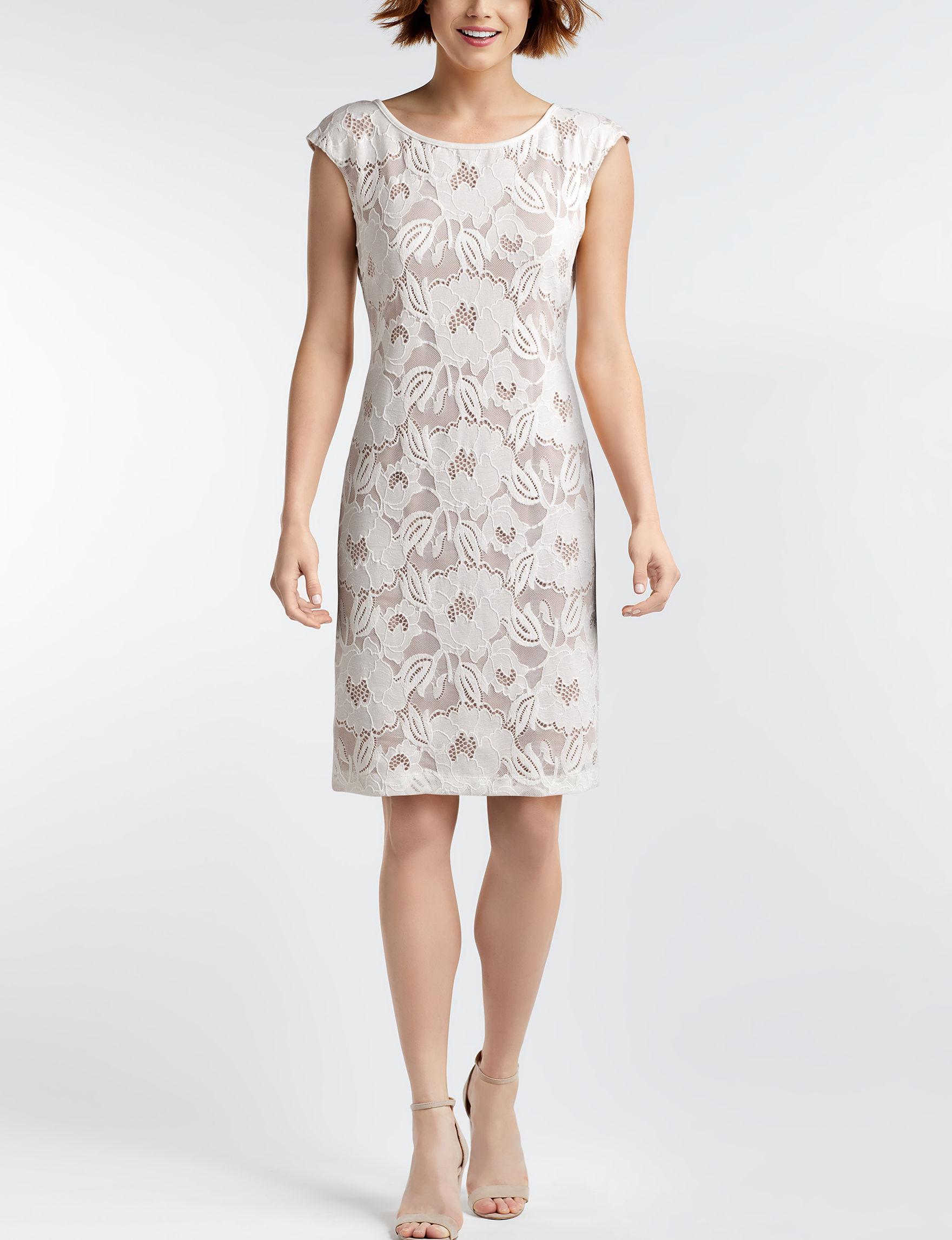 Connected Ivory Everyday & Casual Sheath Dresses