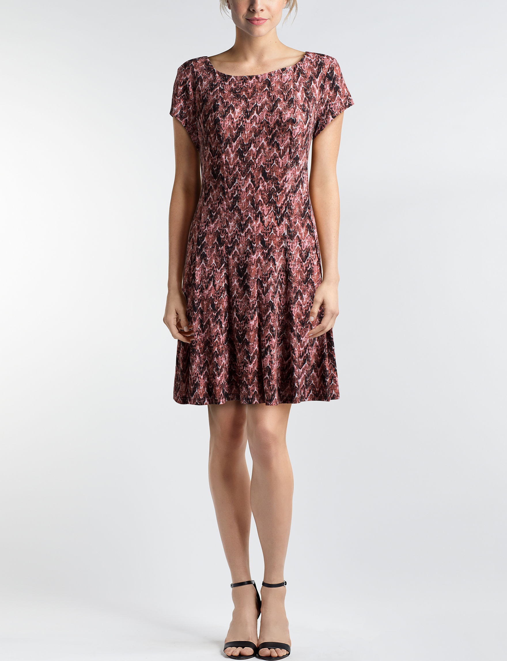 Connected Salmon Everyday & Casual A-line Dresses