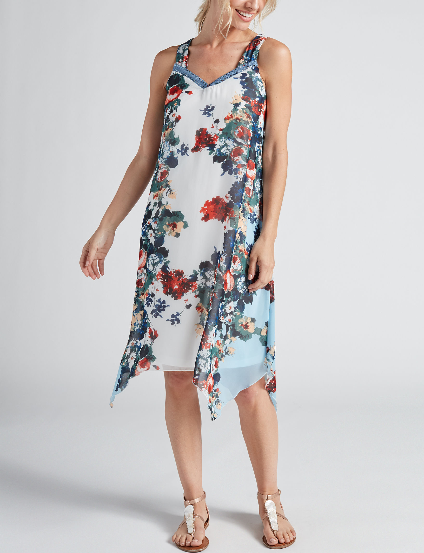 One World White Floral Everyday & Casual