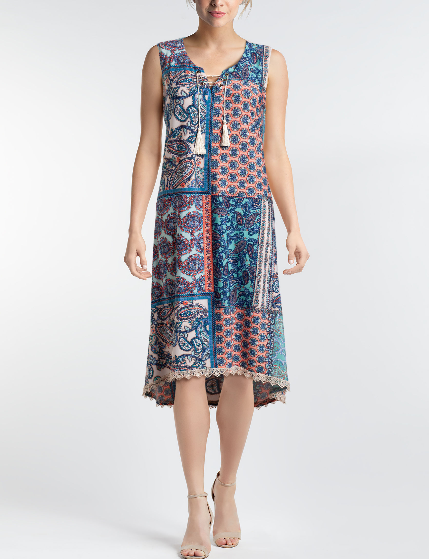 One World Blue Multi Everyday & Casual