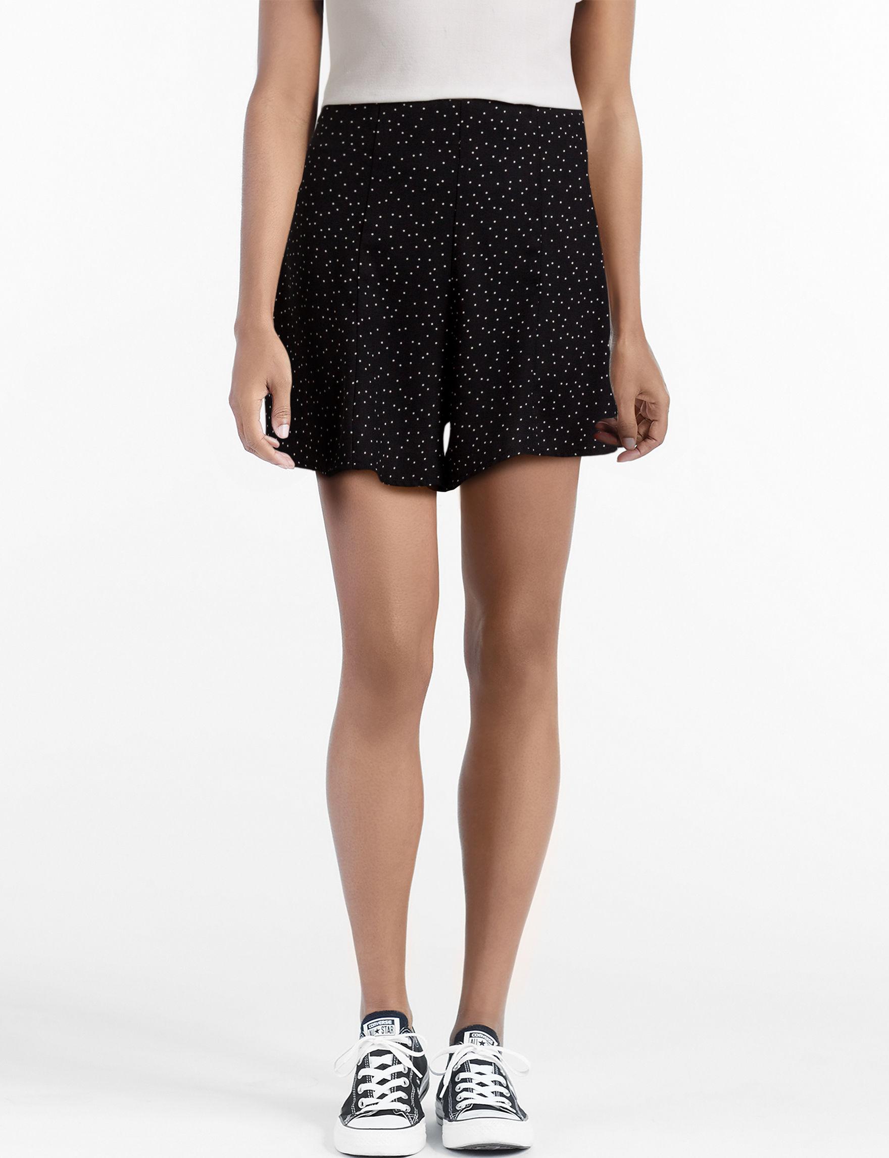 Heart Soul Black Soft Shorts
