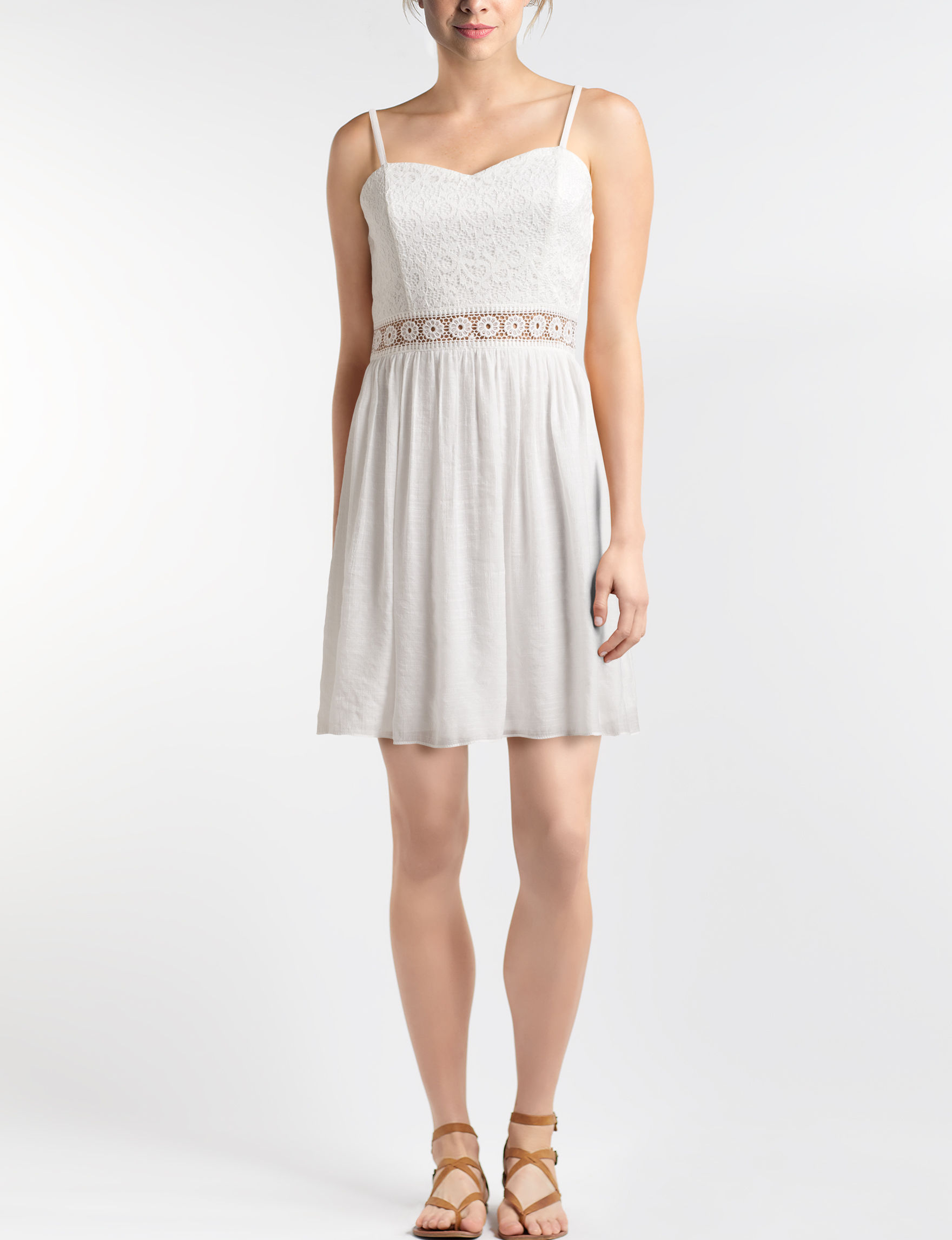 A. Byer White Everyday & Casual Sundresses