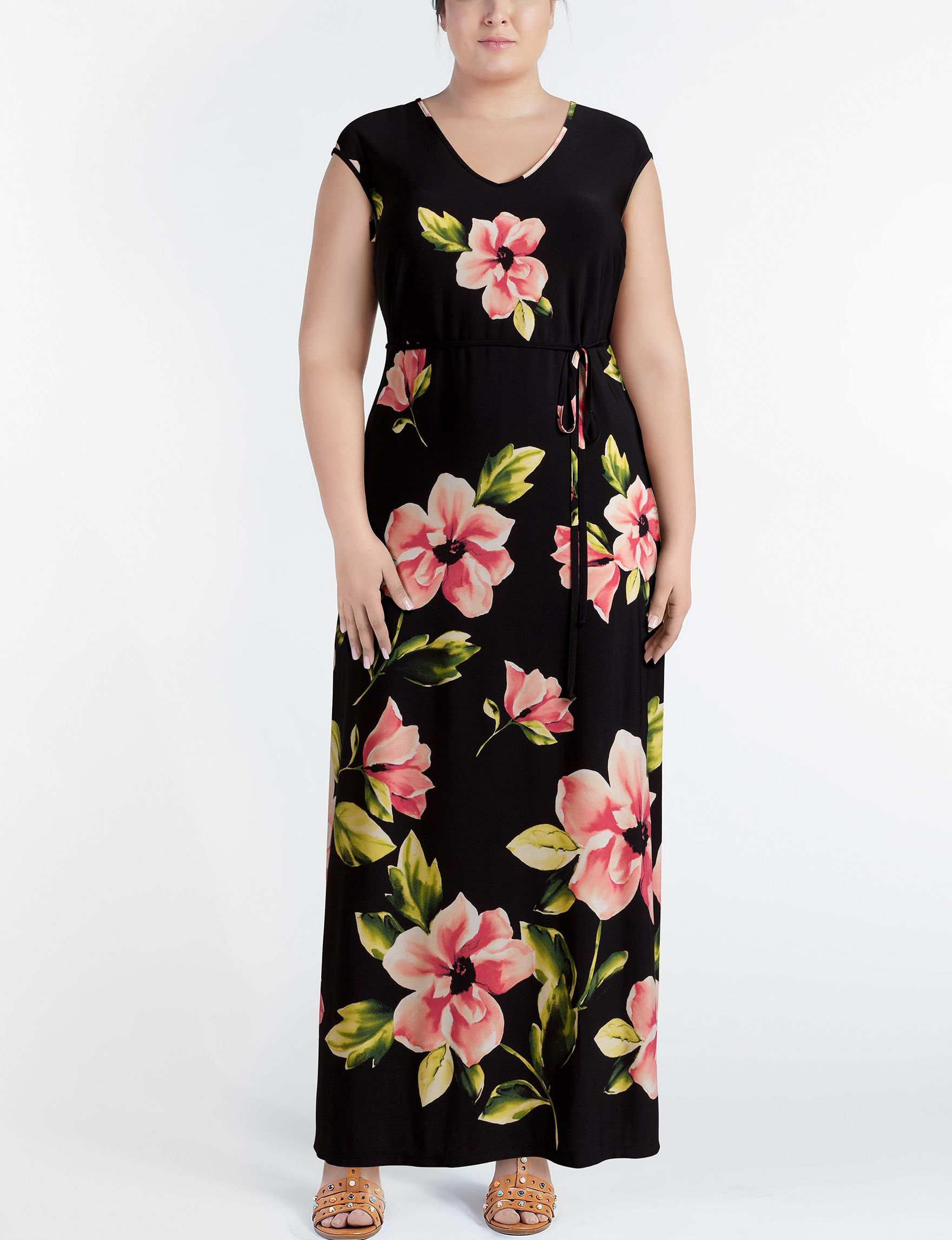 Chetta B Black Floral Everyday & Casual