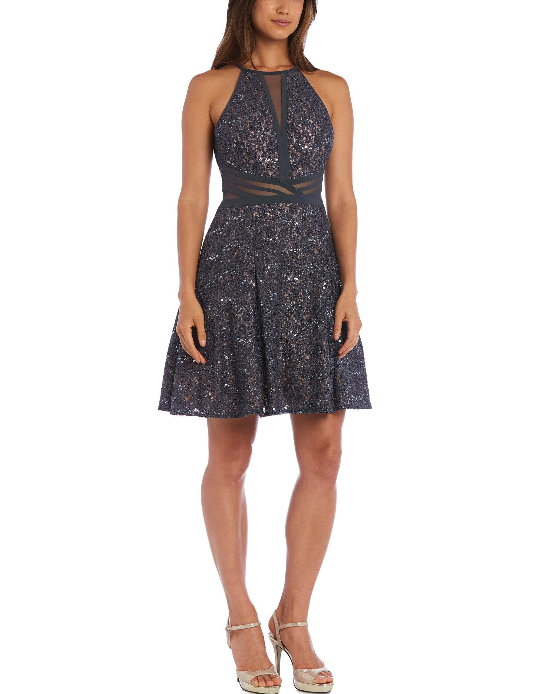 Morgan & Co. Charcoal Cocktail & Party Halter
