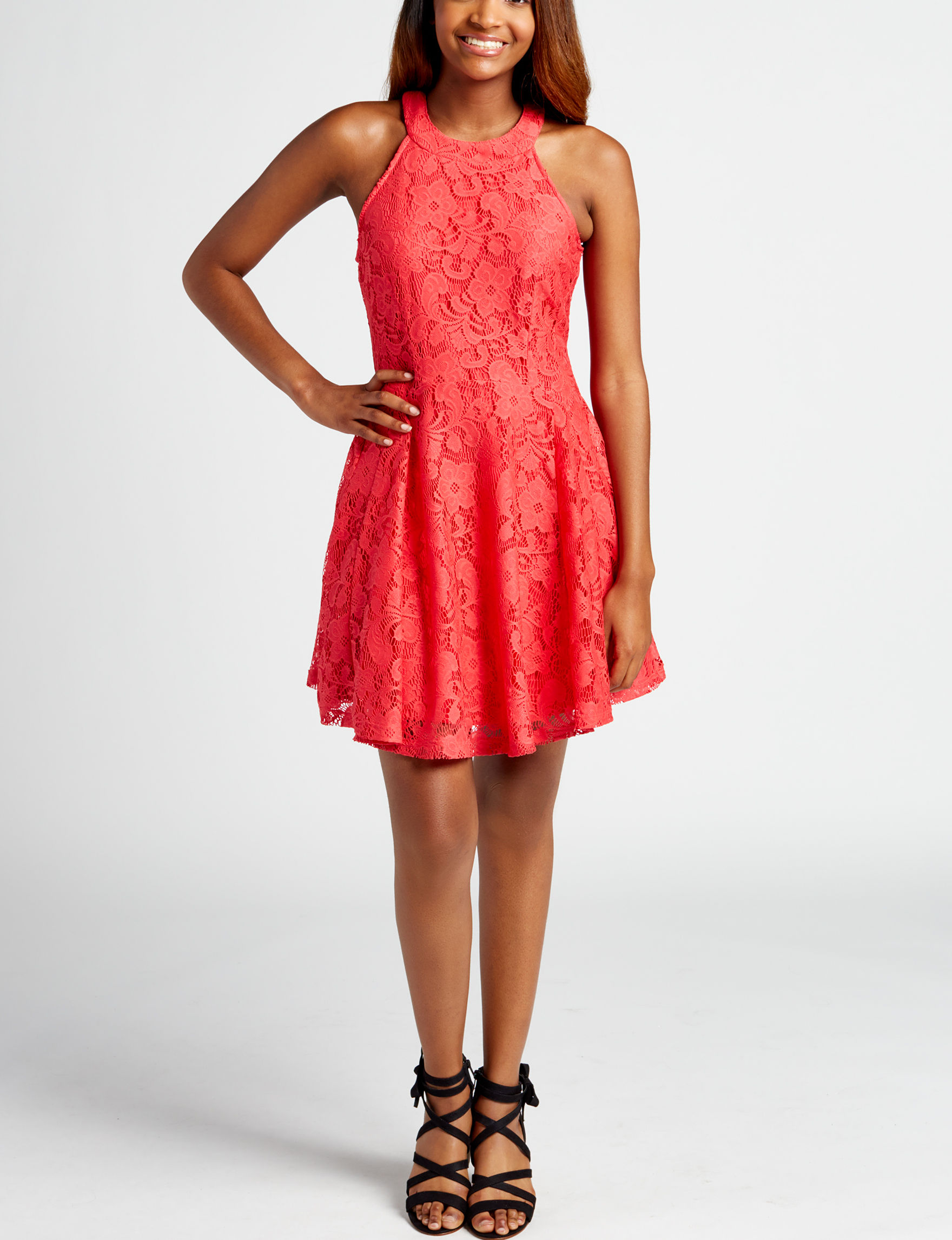 BeBop Red Everyday & Casual Fit & Flare Dresses