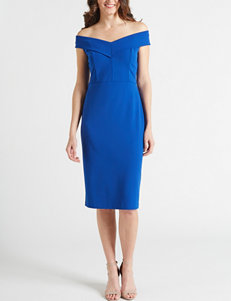 db645e9f Beige by ECI Blue Cocktail & Party Evening & Formal Everyday & Casual Scuba  Dresses Sheath