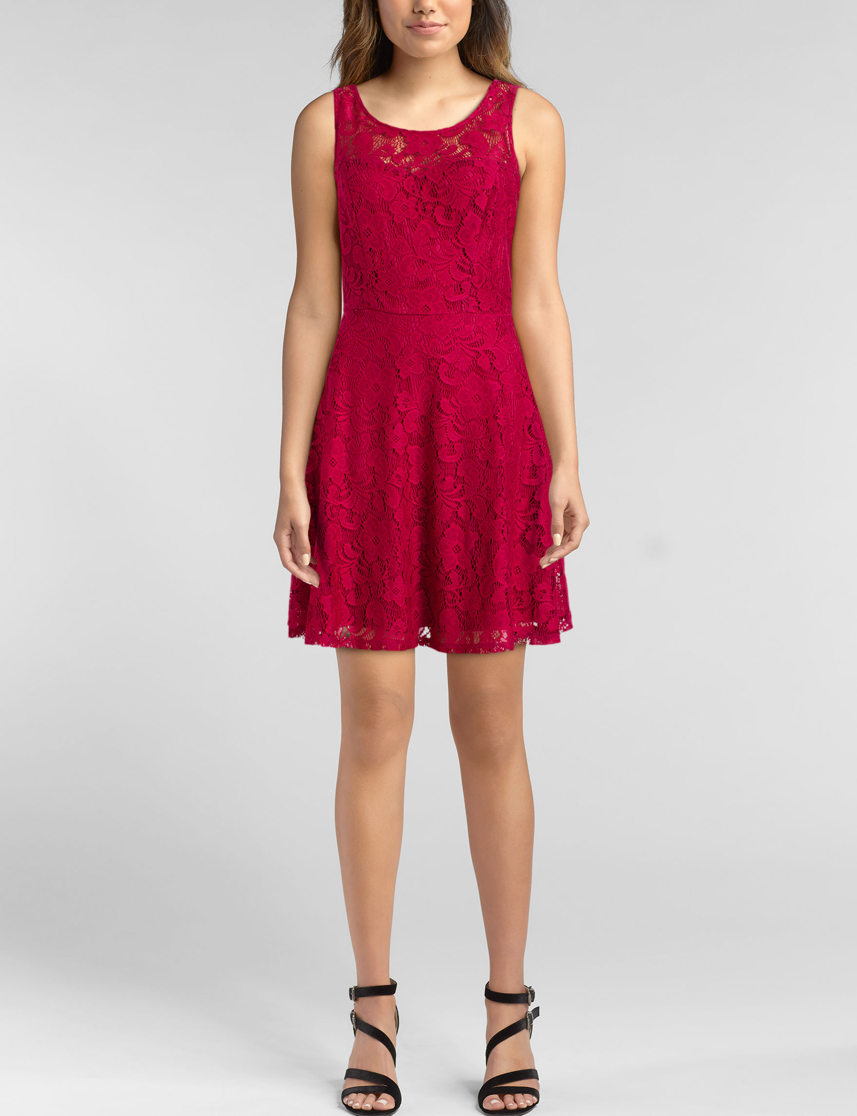BeBop Berry Cocktail & Party Fit & Flare Dresses