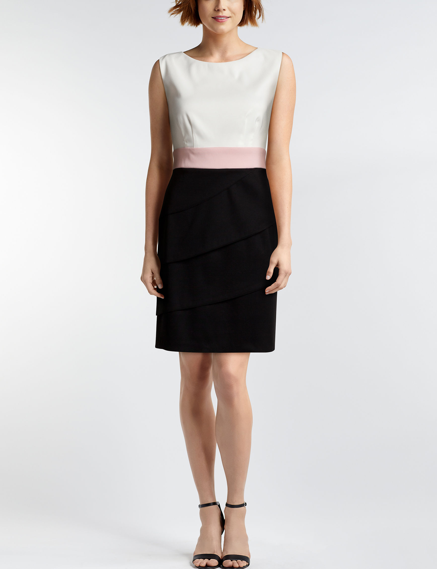 Connected Black White Everyday & Casual Sheath Dresses