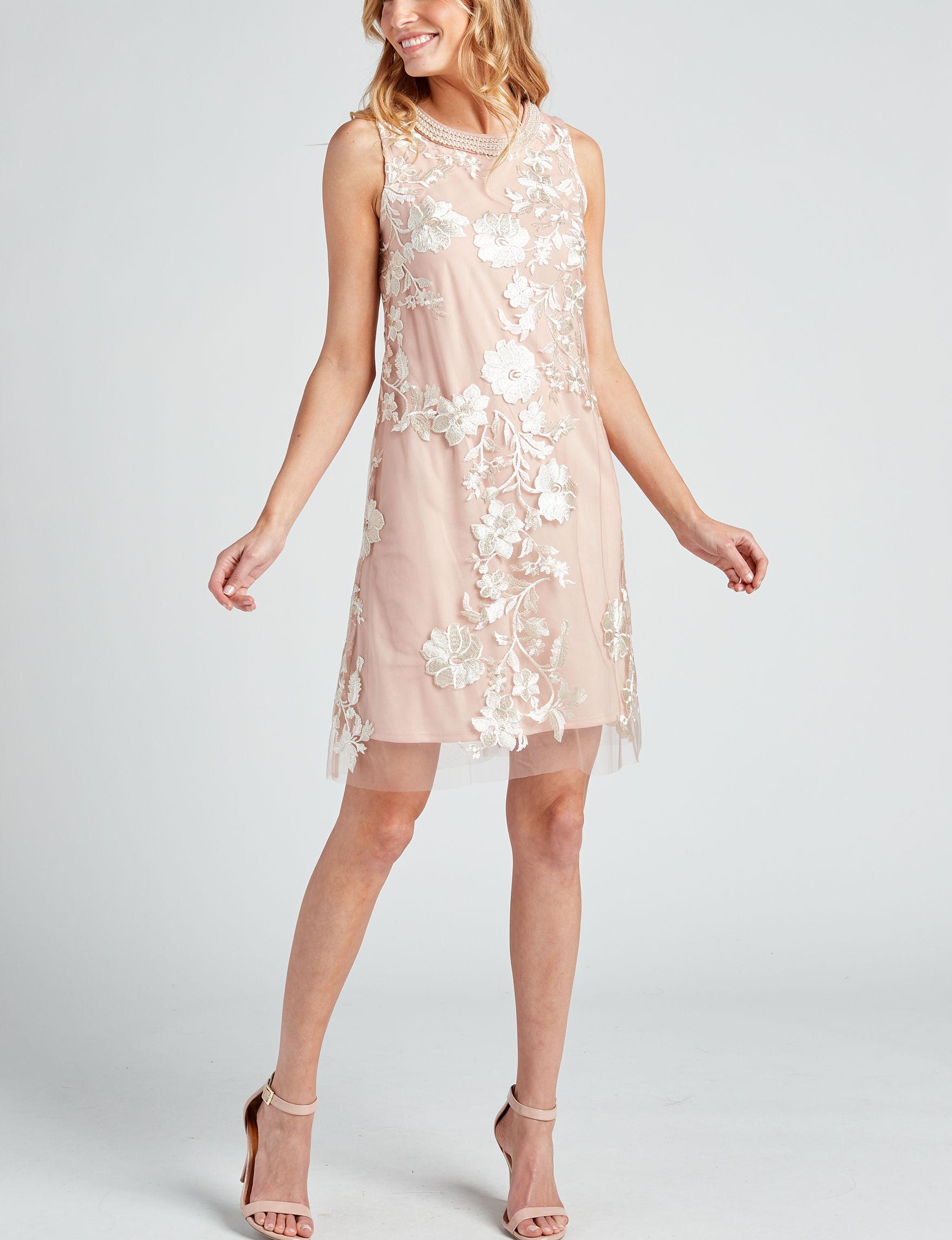 Sandra Darren Light Pink Cocktail & Party Evening & Formal Shift Dresses
