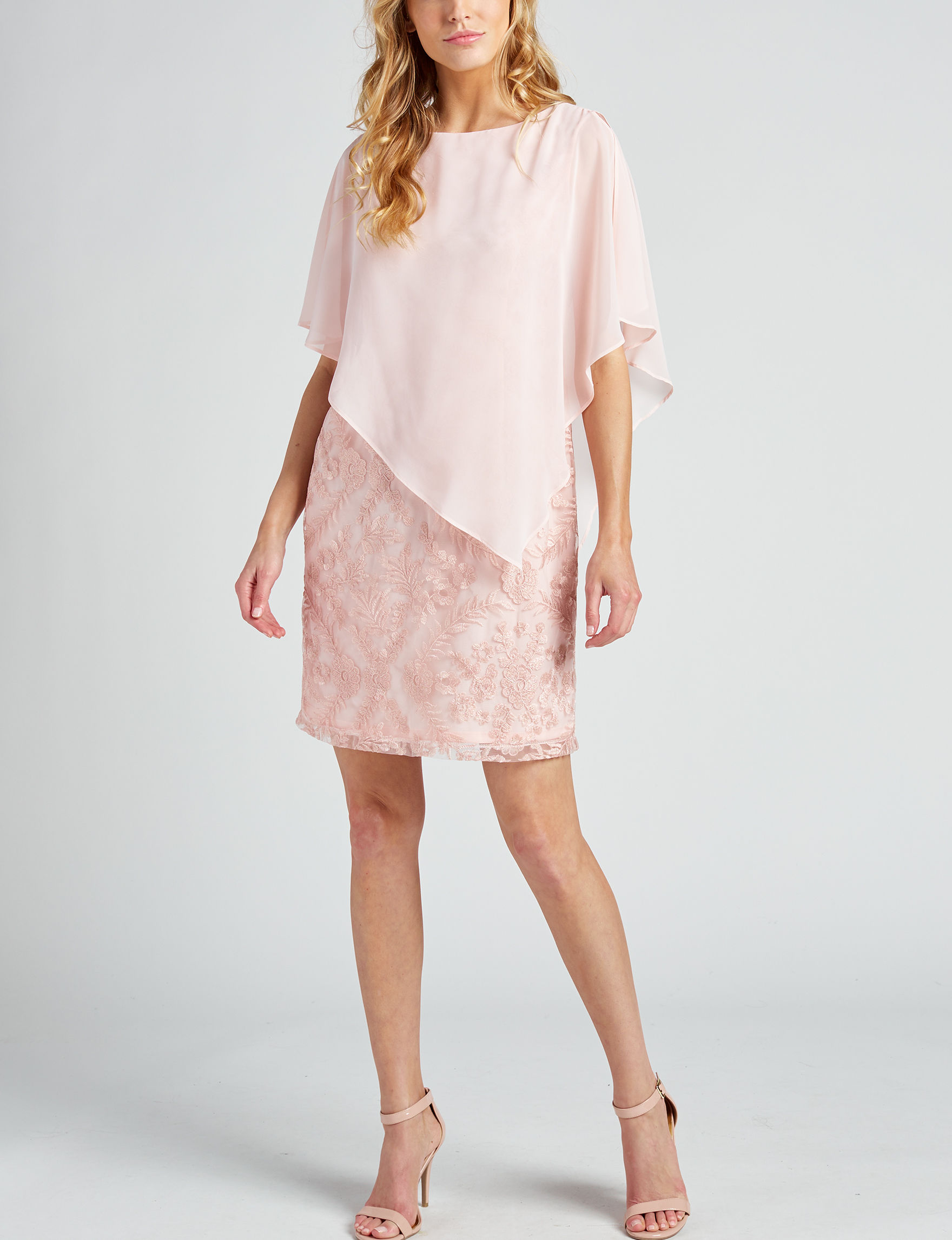Sandra Darren Pink Cocktail & Party Evening & Formal Shift Dresses