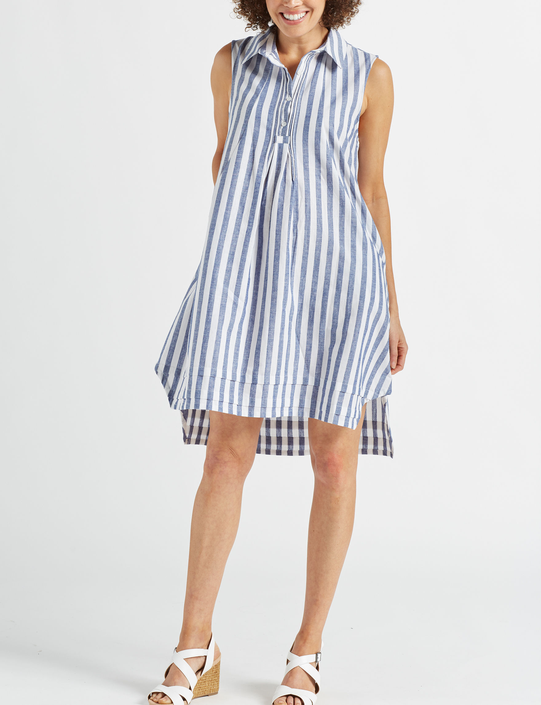 Hope & Harlow Blue Everyday & Casual Shirt Dresses