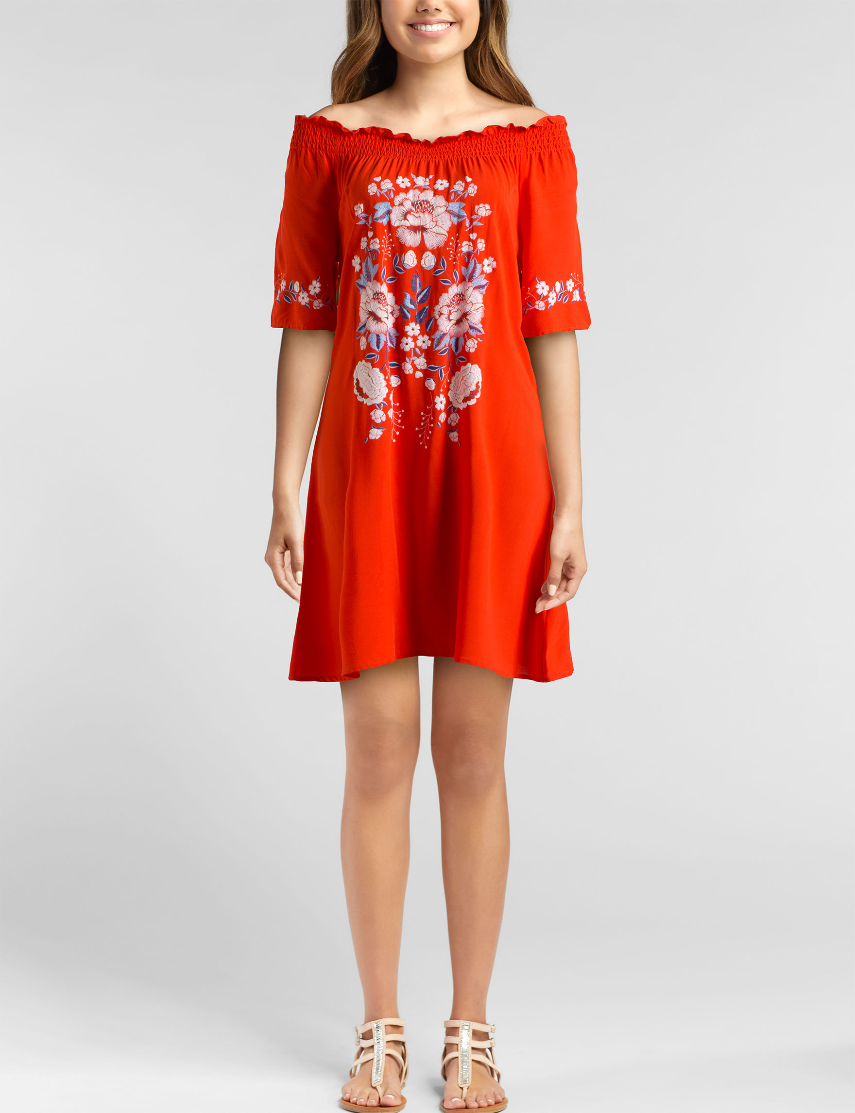 Heart Soul Coral Everyday & Casual Shift Dresses