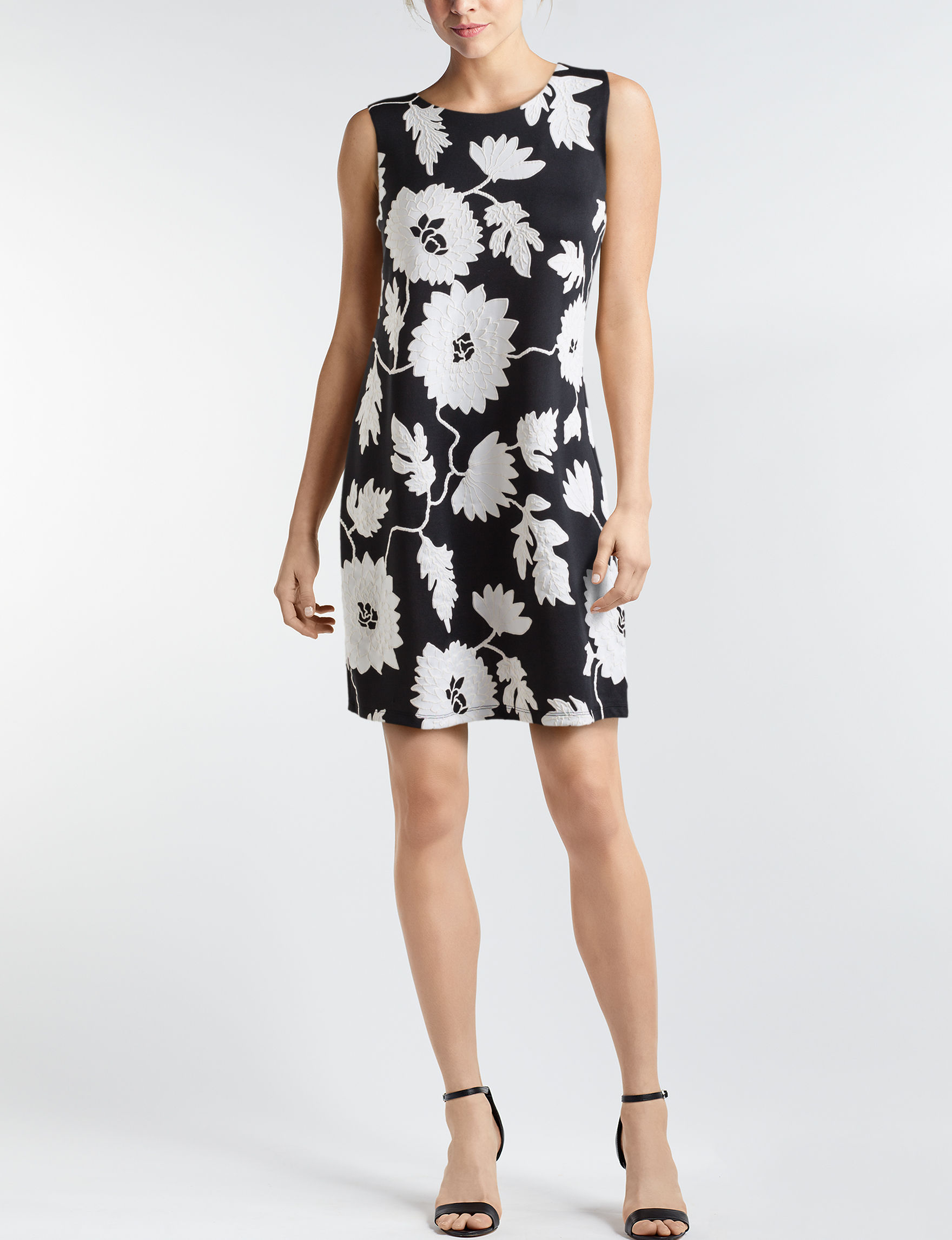 Ronni Nicole Black White Everyday & Casual Sheath Dresses