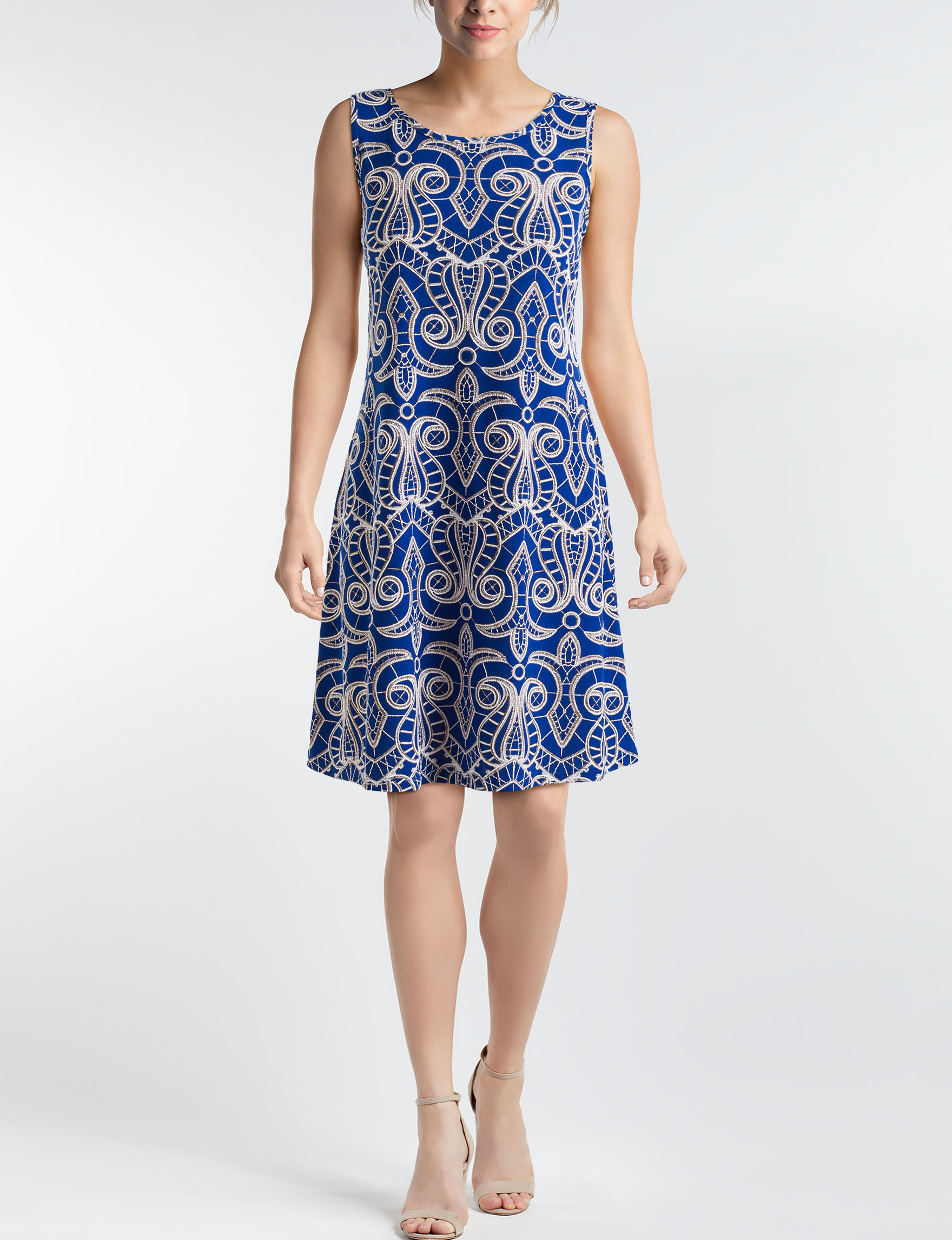 Ronni Nicole Blue Everyday & Casual A-line Dresses Fit & Flare Dresses