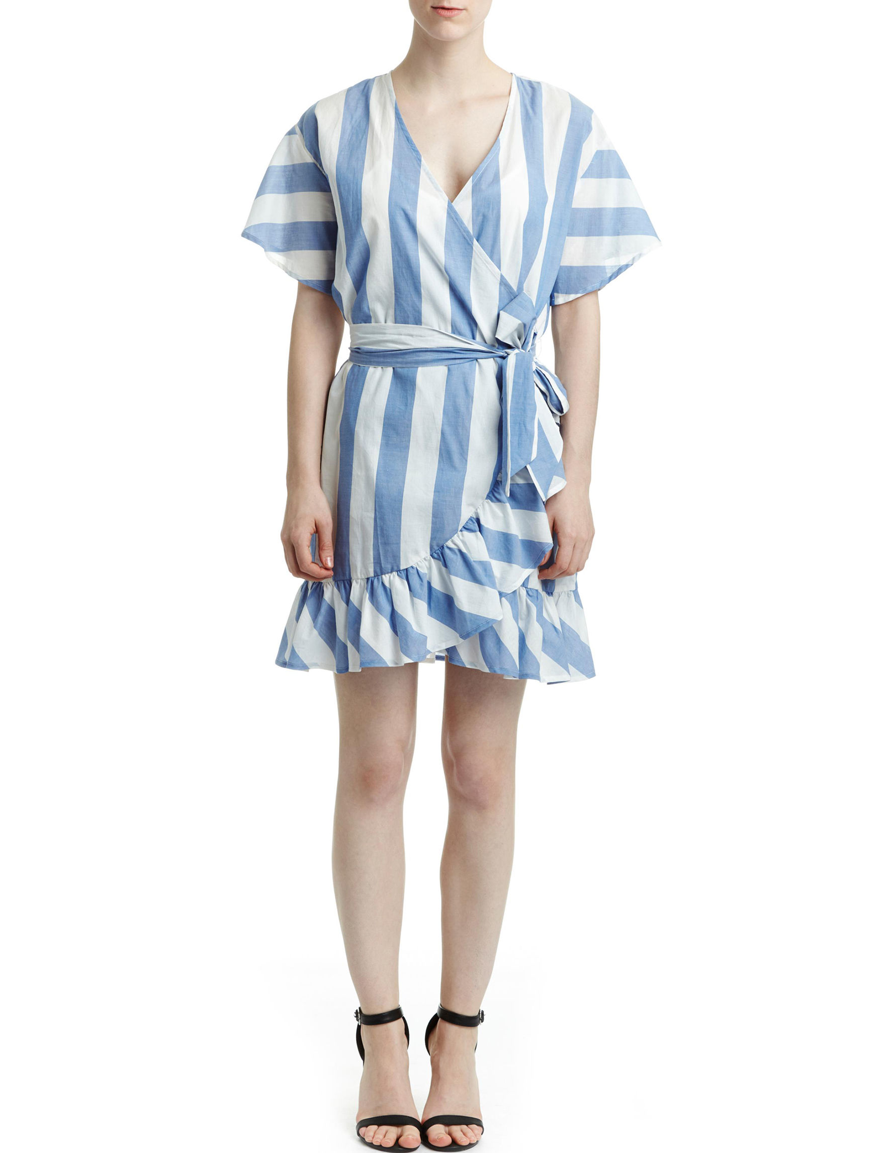 Romeo + Juliet Couture Blue / White Everyday & Casual Fit & Flare Dresses