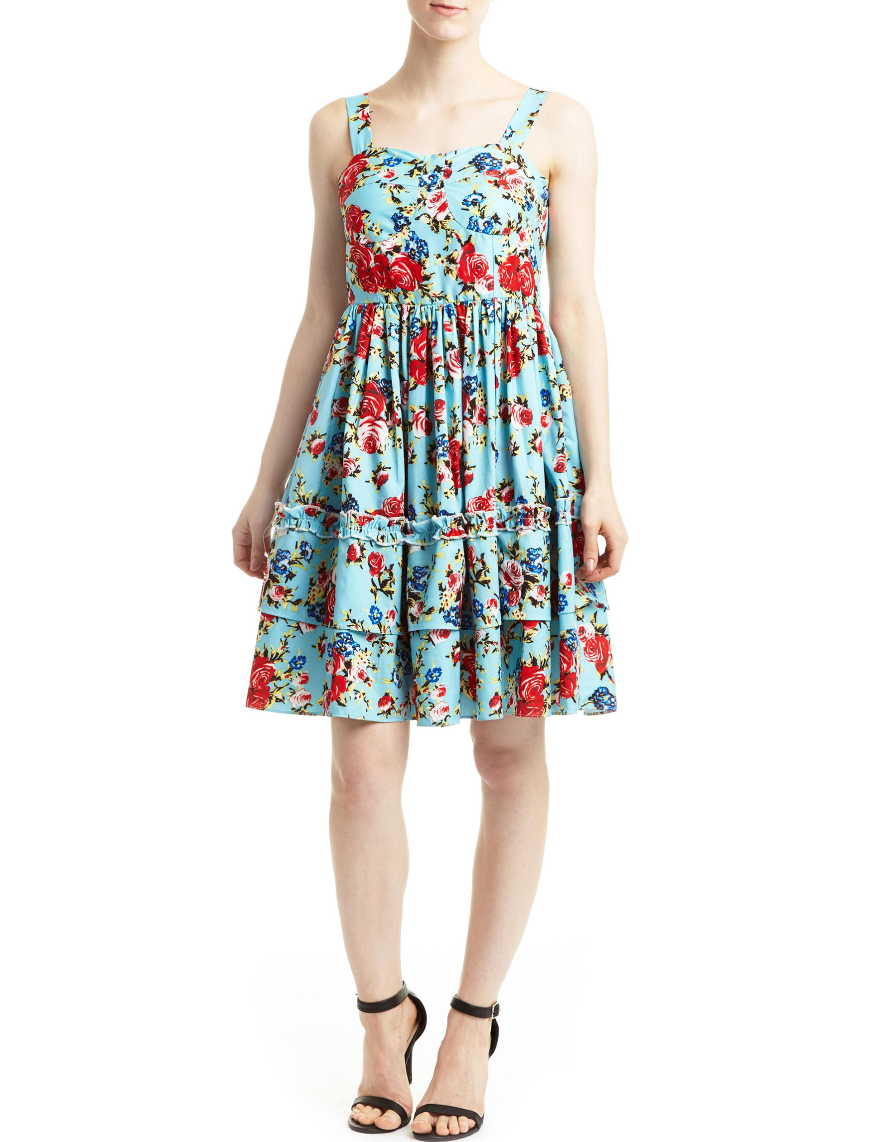 Romeo + Juliet Couture Turquoise Everyday & Casual Fit & Flare Dresses
