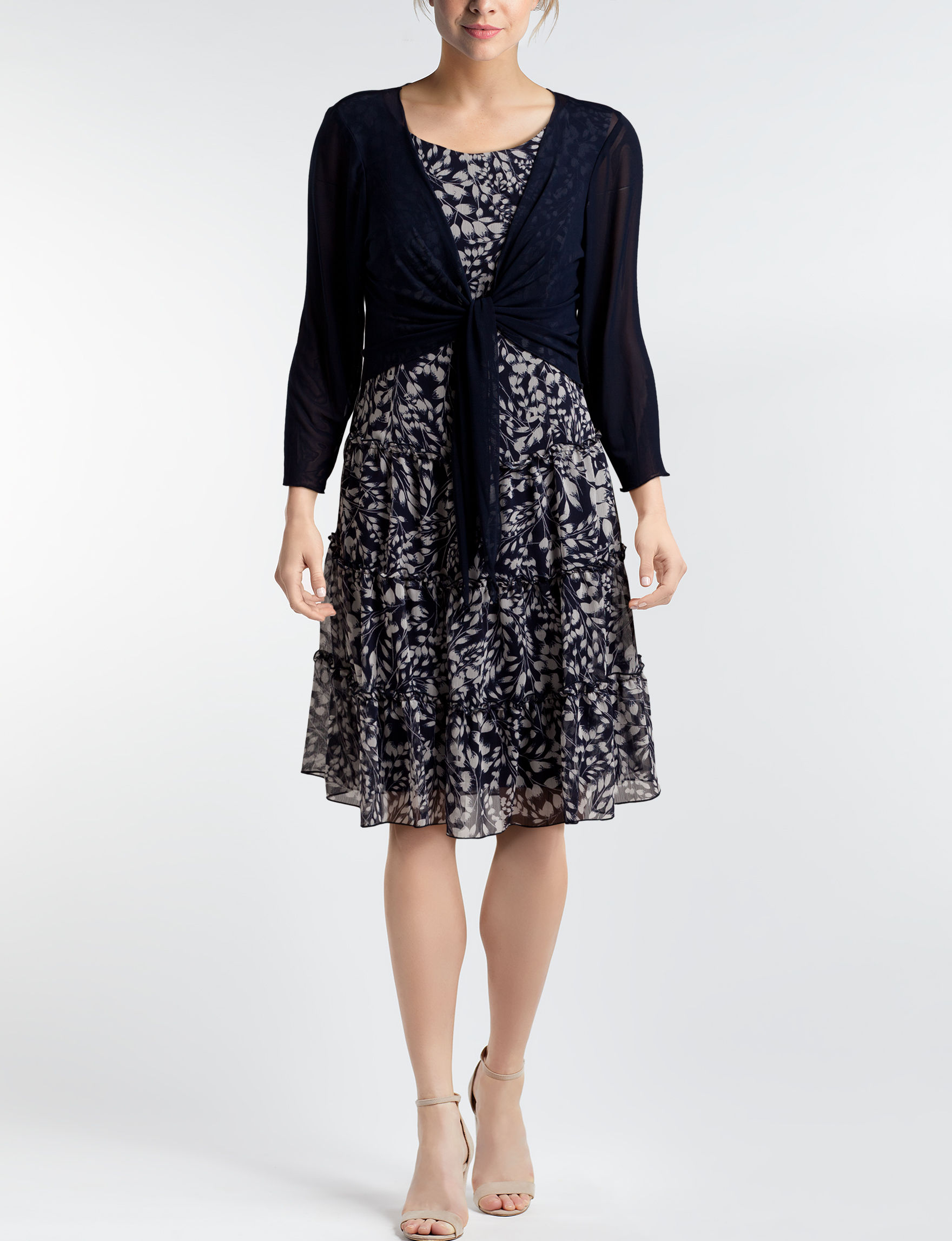 Connected Navy Everyday & Casual Jacket Dresses