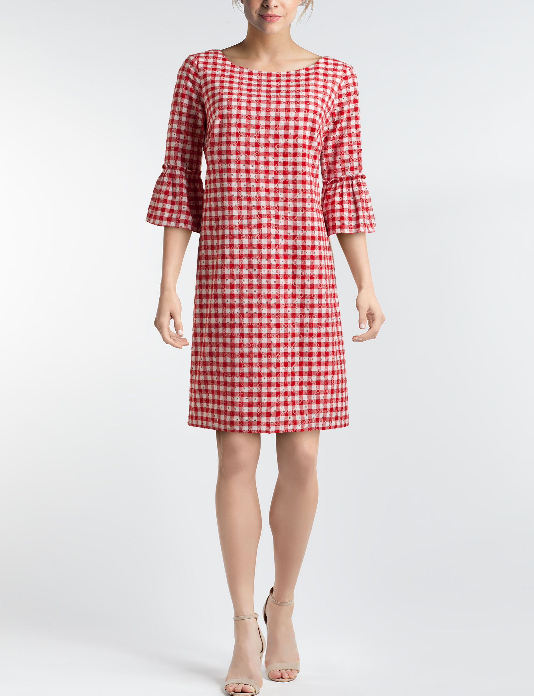 Sangria Red Everyday & Casual Shift Dresses