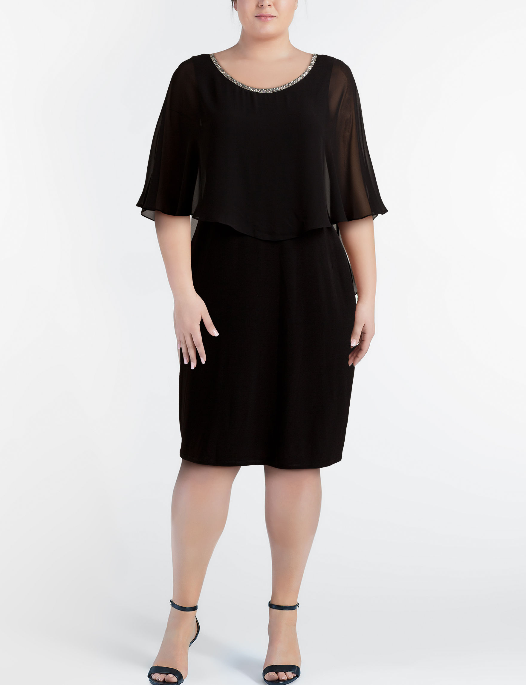 Glamour Black Cocktail & Party Evening & Formal Shift Dresses
