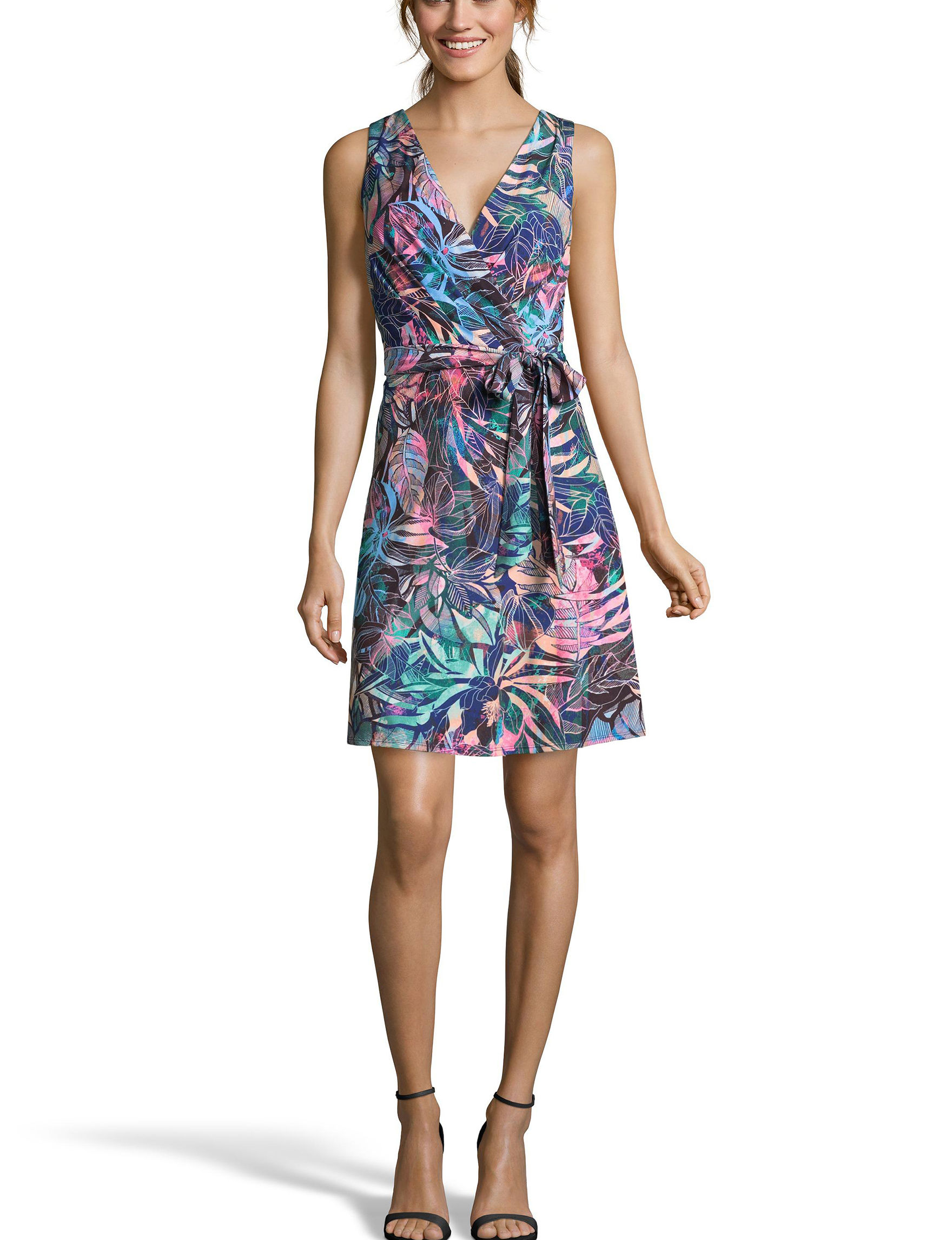 Nicole Miller Navy / Multi Everyday & Casual A-line Dresses