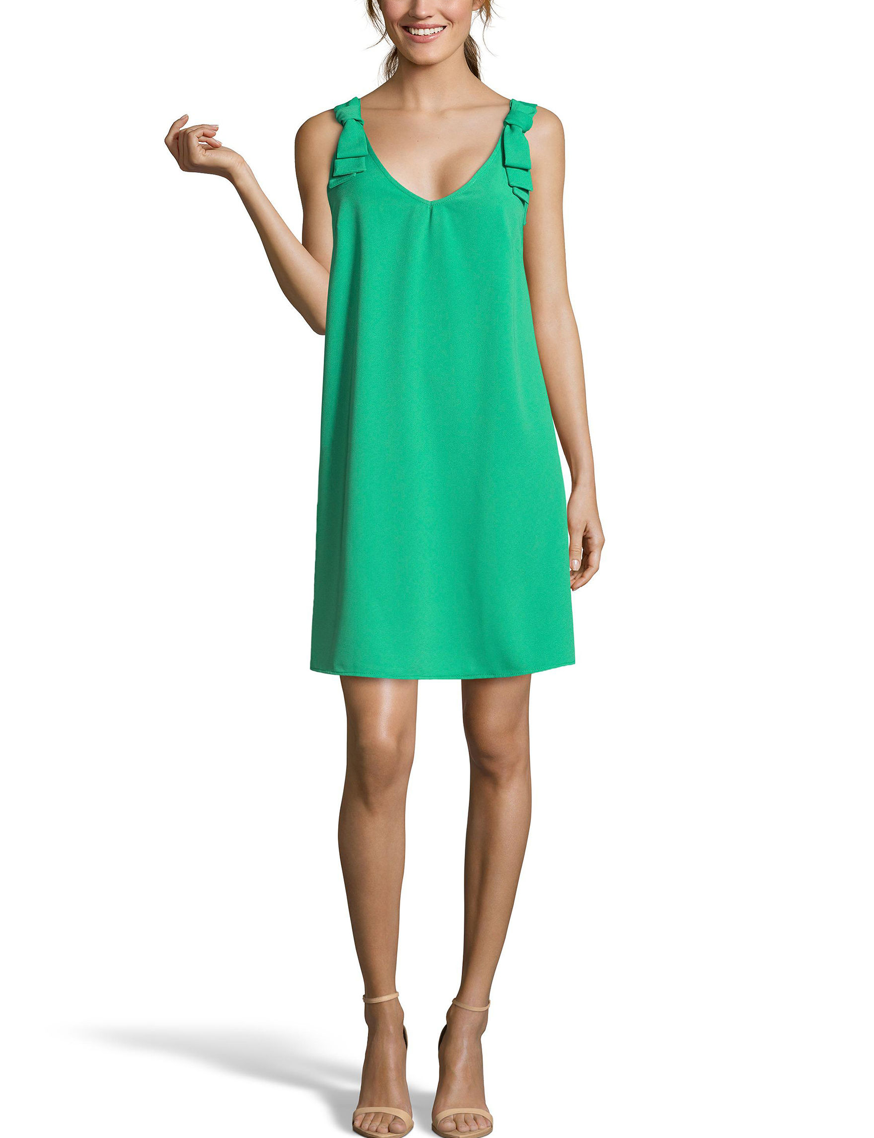 Nicole Miller Green Everyday & Casual Shift Dresses