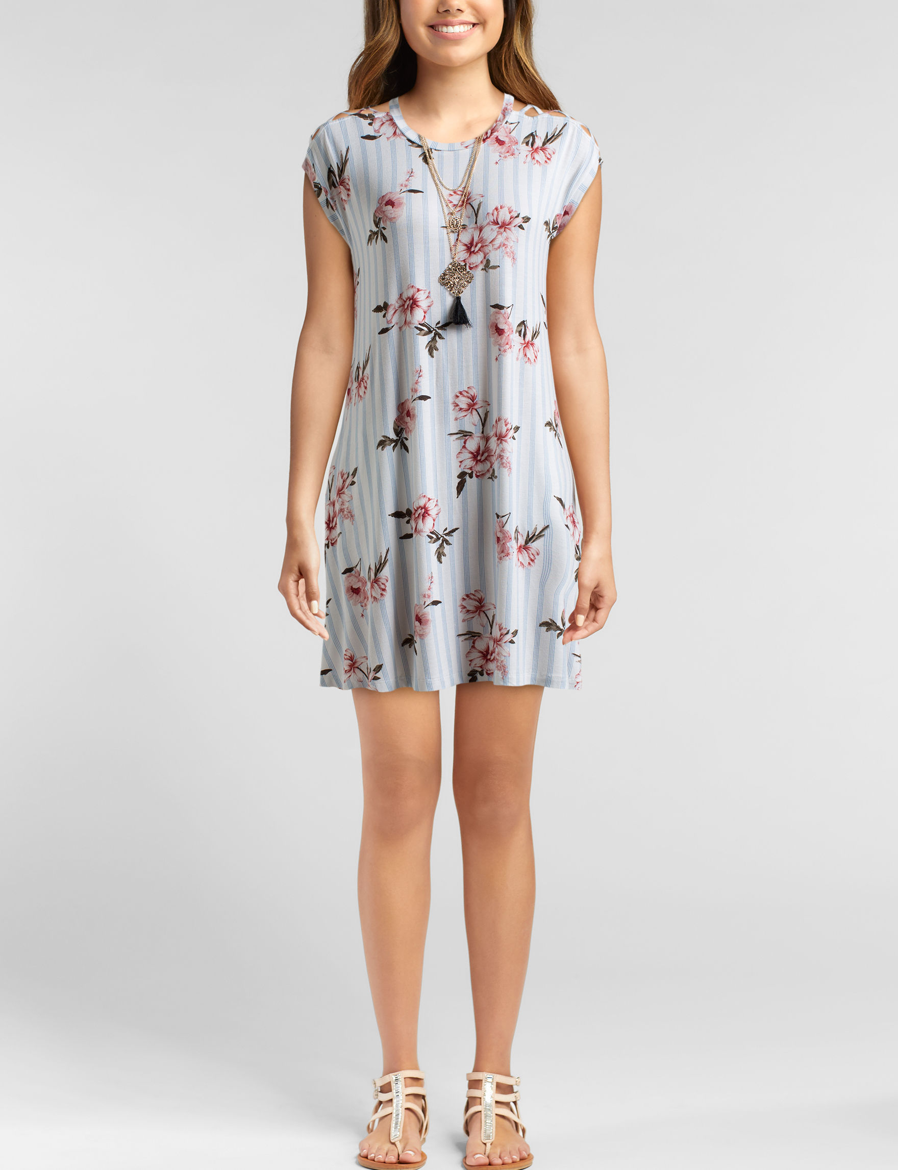 Wishful Park White Floral Everyday & Casual Shift Dresses